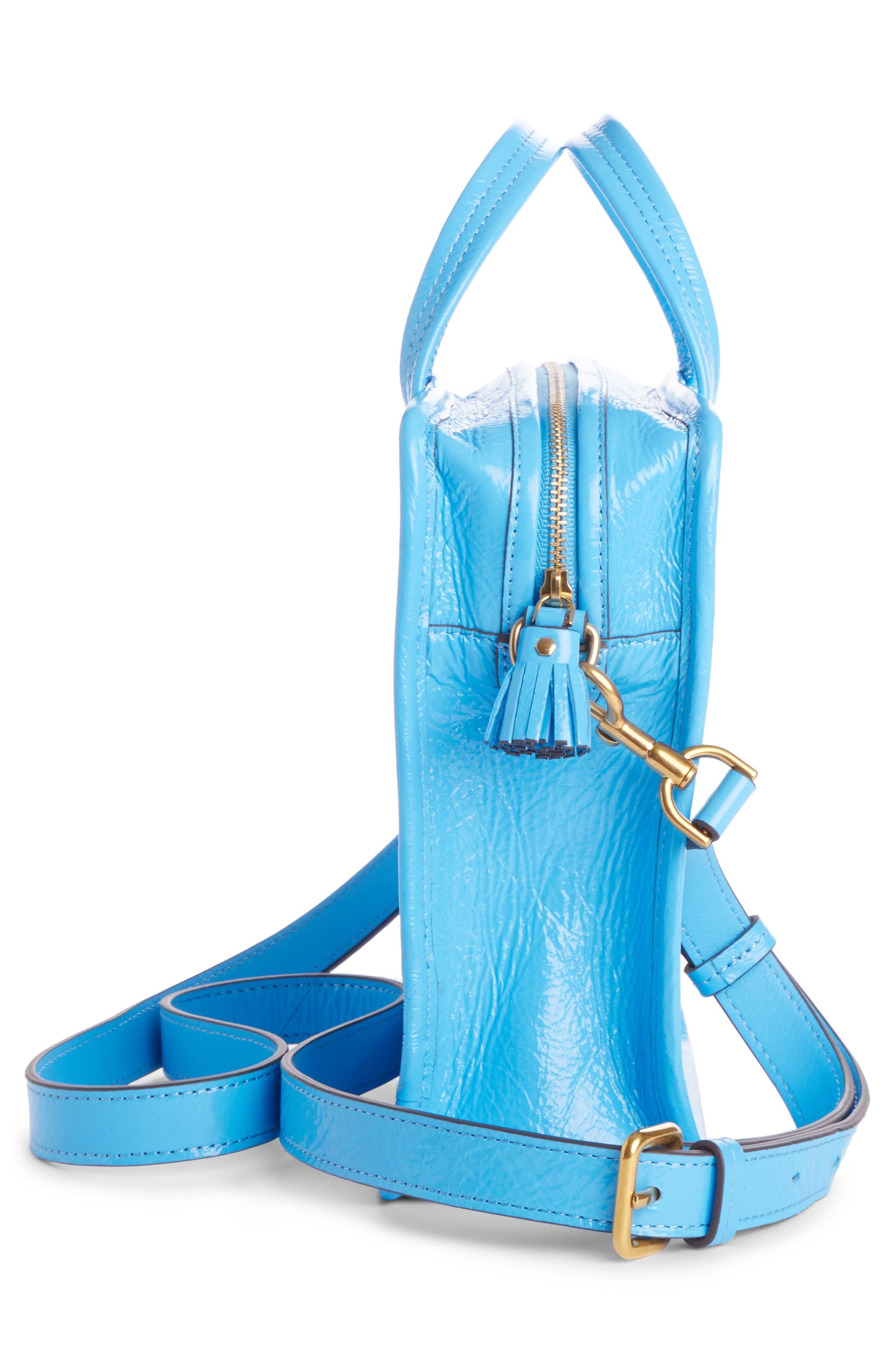 Rainy Day Crossbody Bag,                             Alternate thumbnail 3, color,                             Blue Quilt