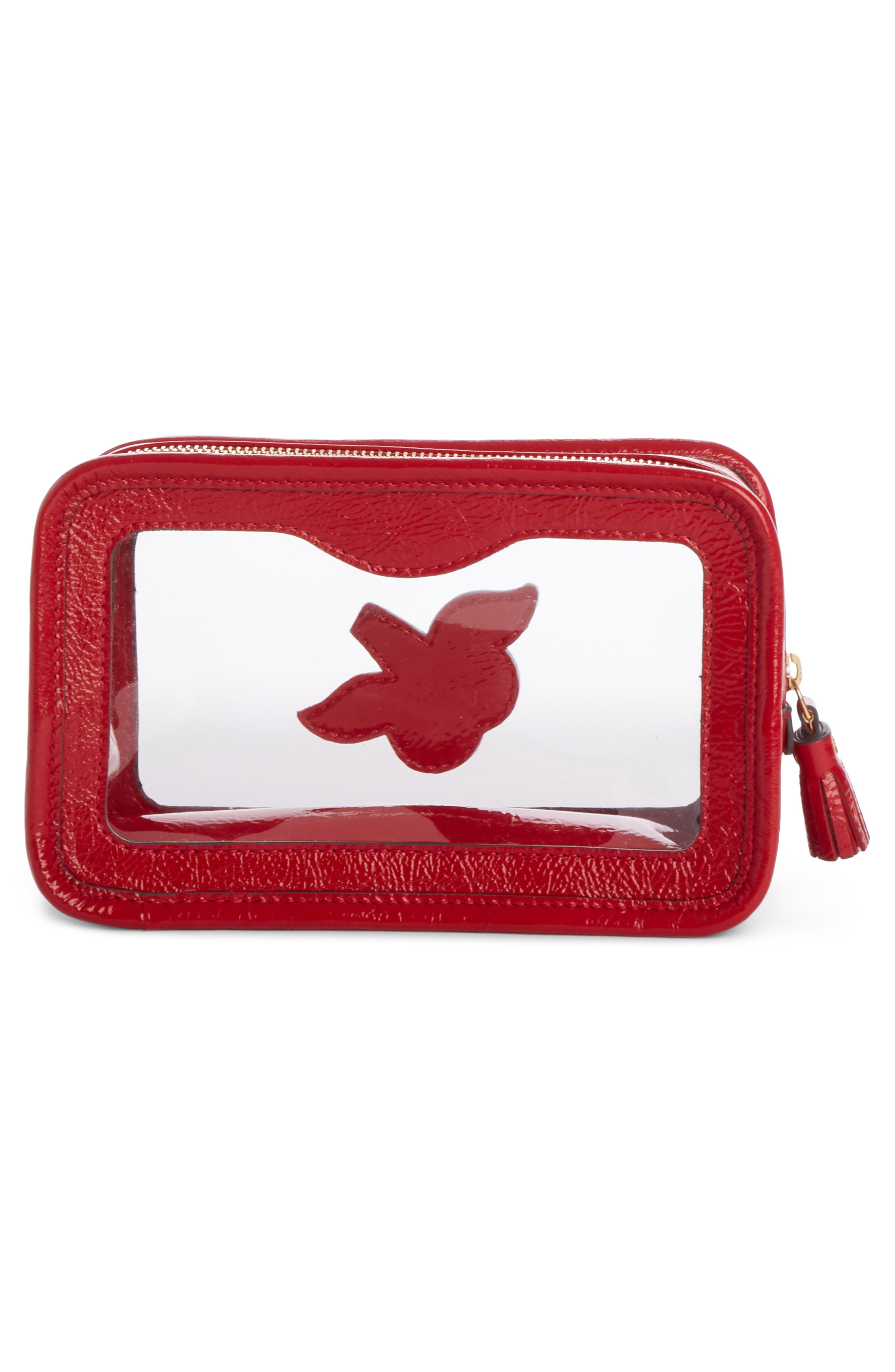 Rainy Day Cosmetic Bag,                             Alternate thumbnail 2, color,                             Red