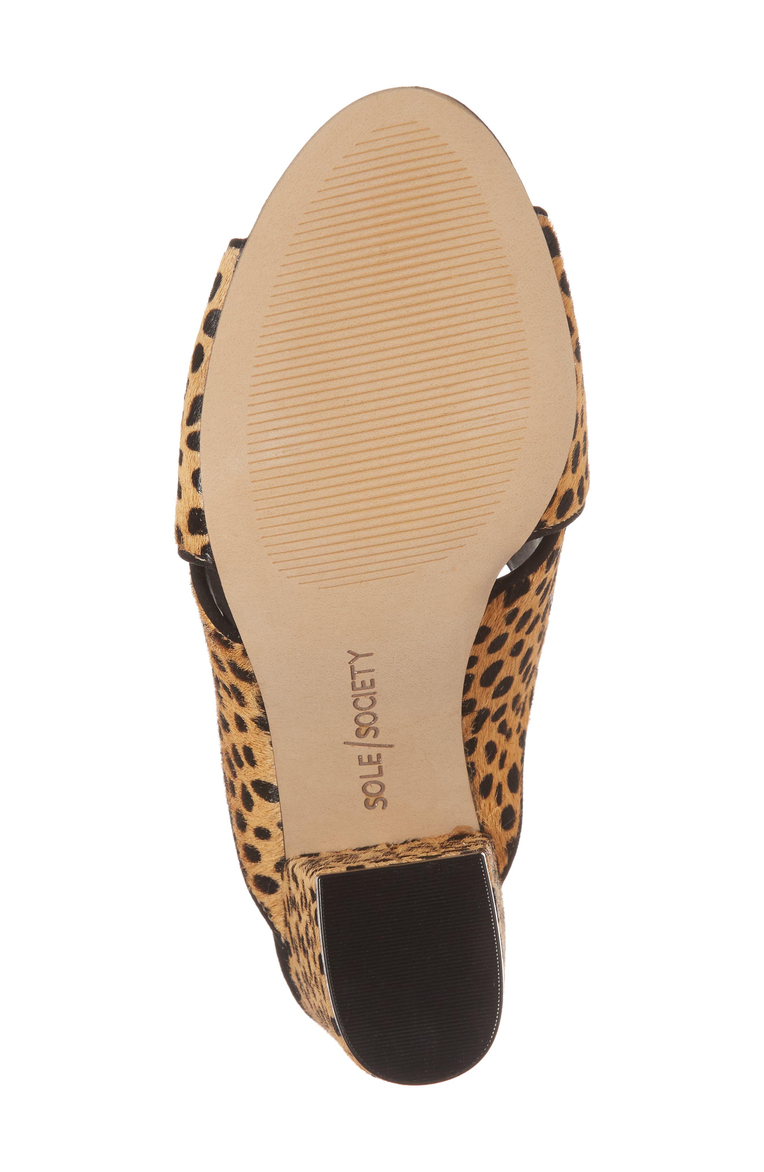Luella Genuine Calf Hair Slide,                             Alternate thumbnail 6, color,                             Cheetah Dot Haircalf