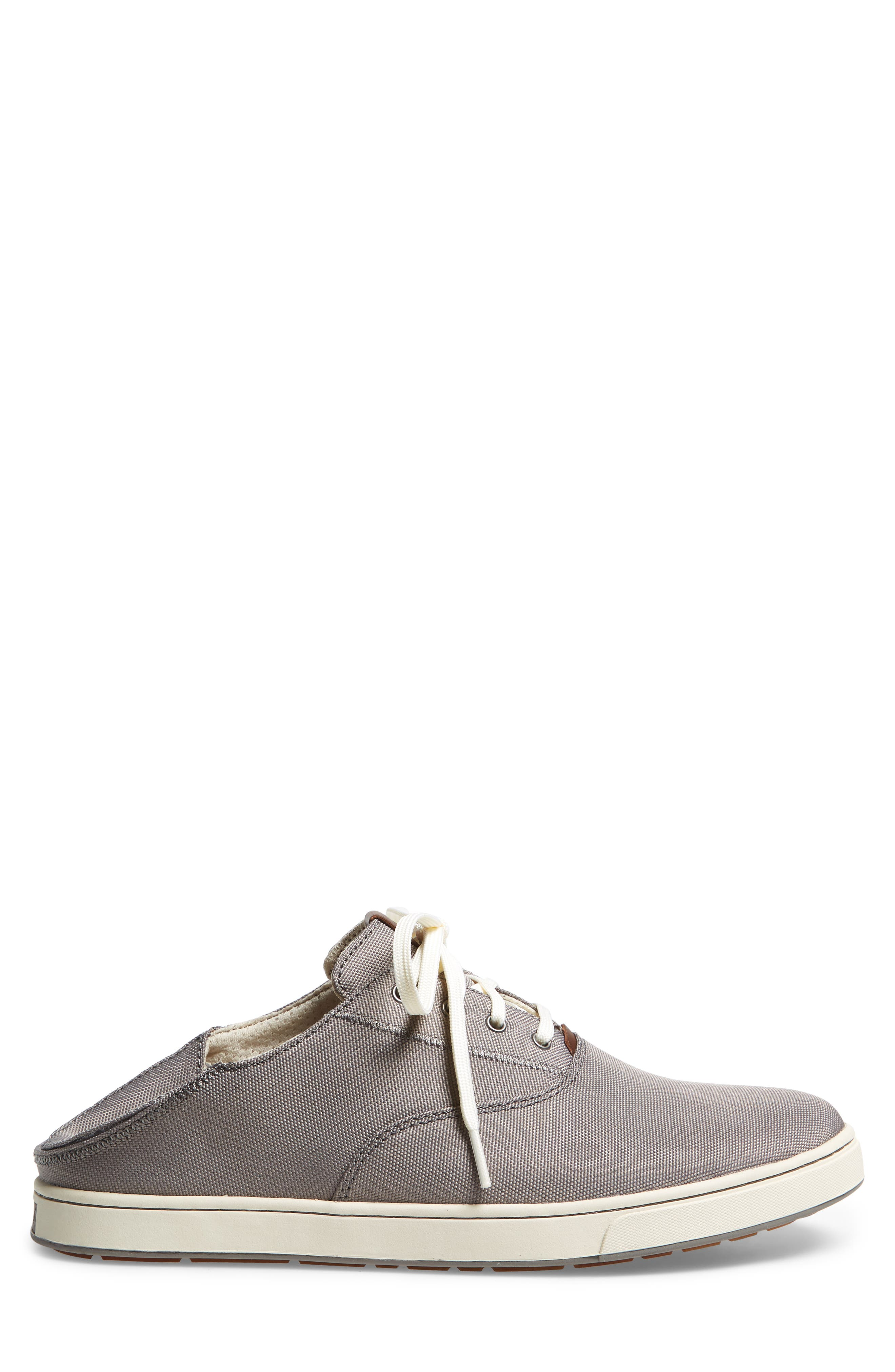 Kahu Collapsible Lace-Up Sneaker,                             Alternate thumbnail 3, color,                             Fog/ Off White