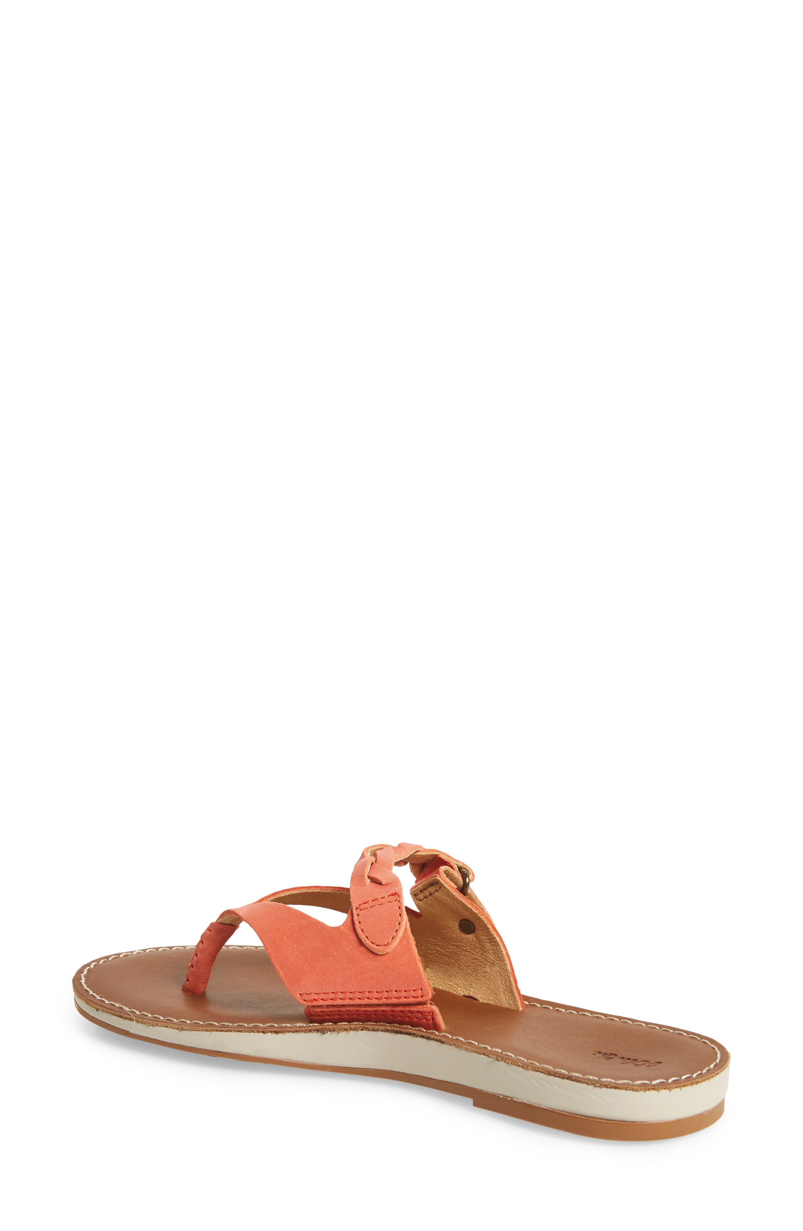 Kahikolu Flip Flop,                             Alternate thumbnail 2, color,                             Peach/ Tan Leather