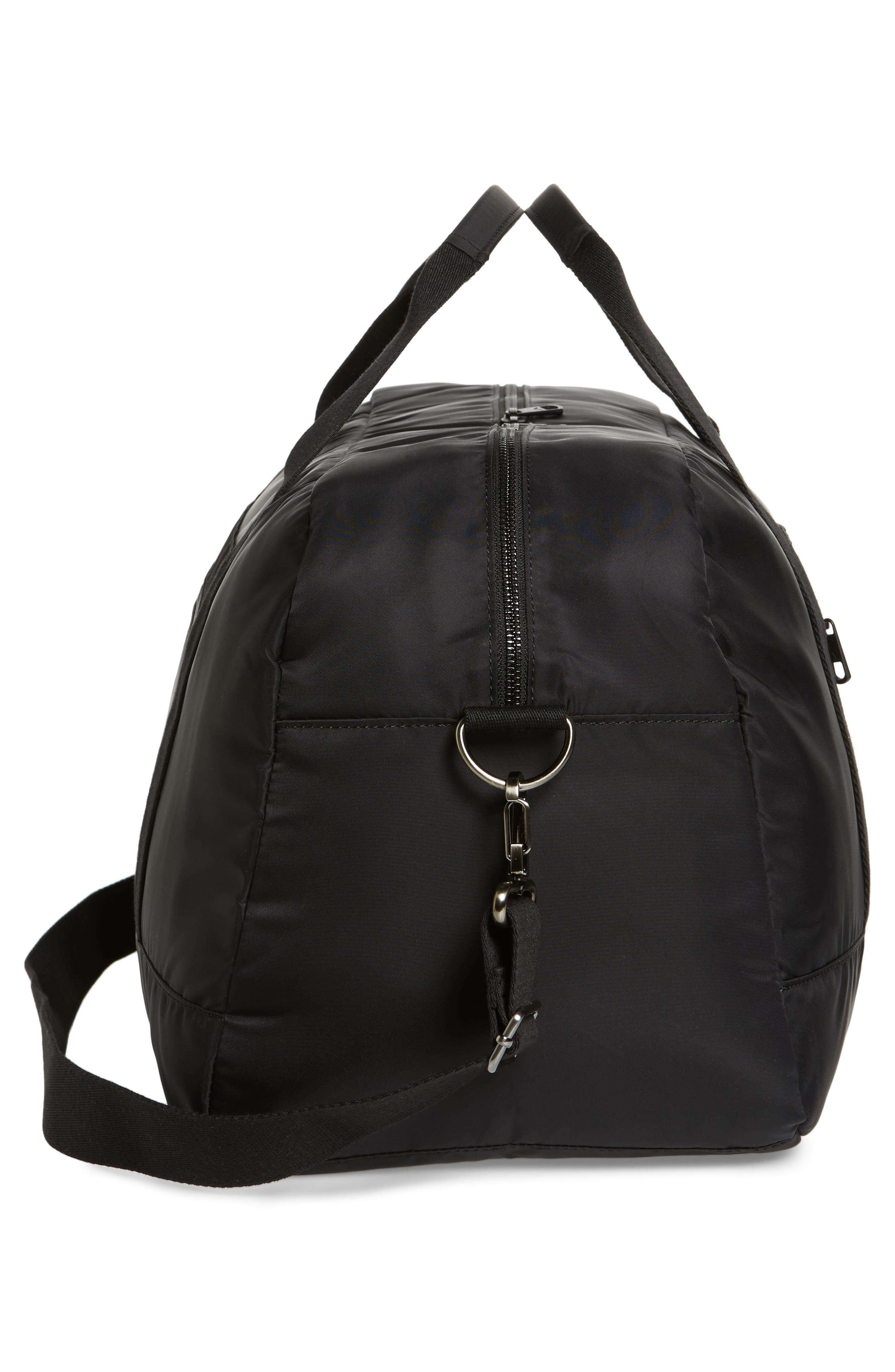 The Heights - Franklin Nylon Duffel Bag,                             Alternate thumbnail 5, color,                             Black