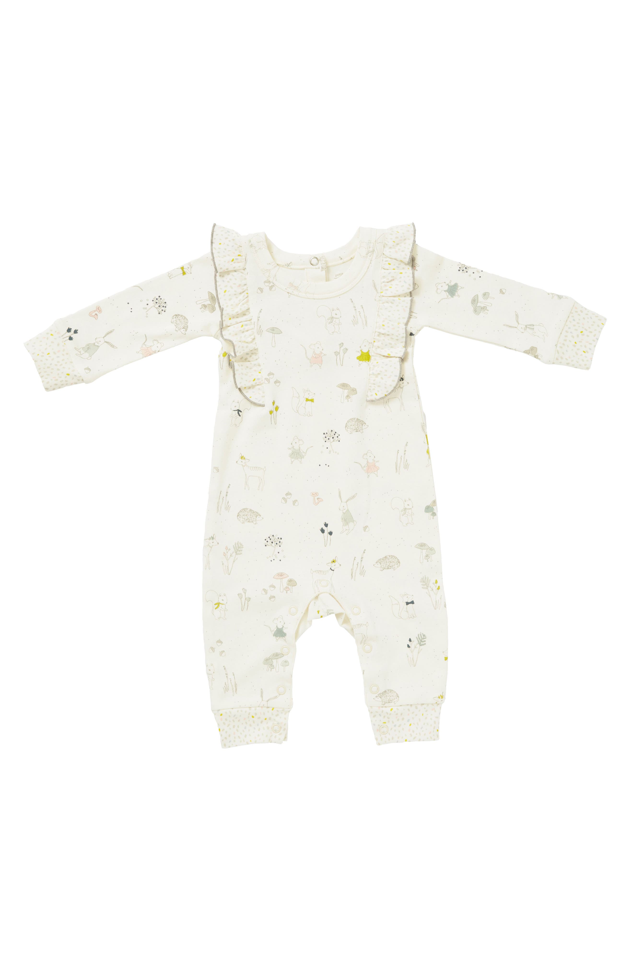 Magical Forest Romper,                         Main,                         color, Ivory