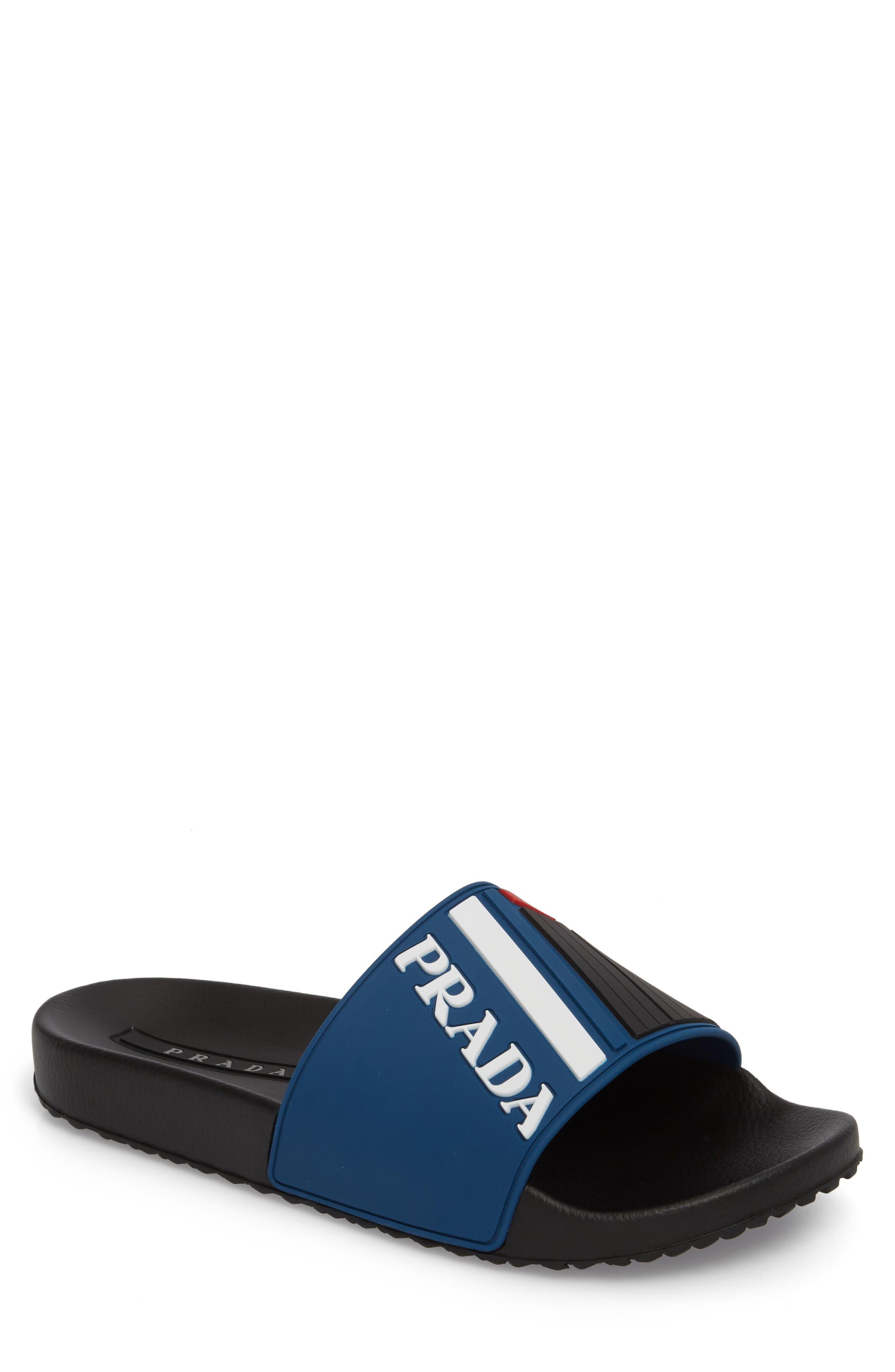 Alternate Image 1 Selected - Prada Linea Rossa Logo Slide Sandal (Men)