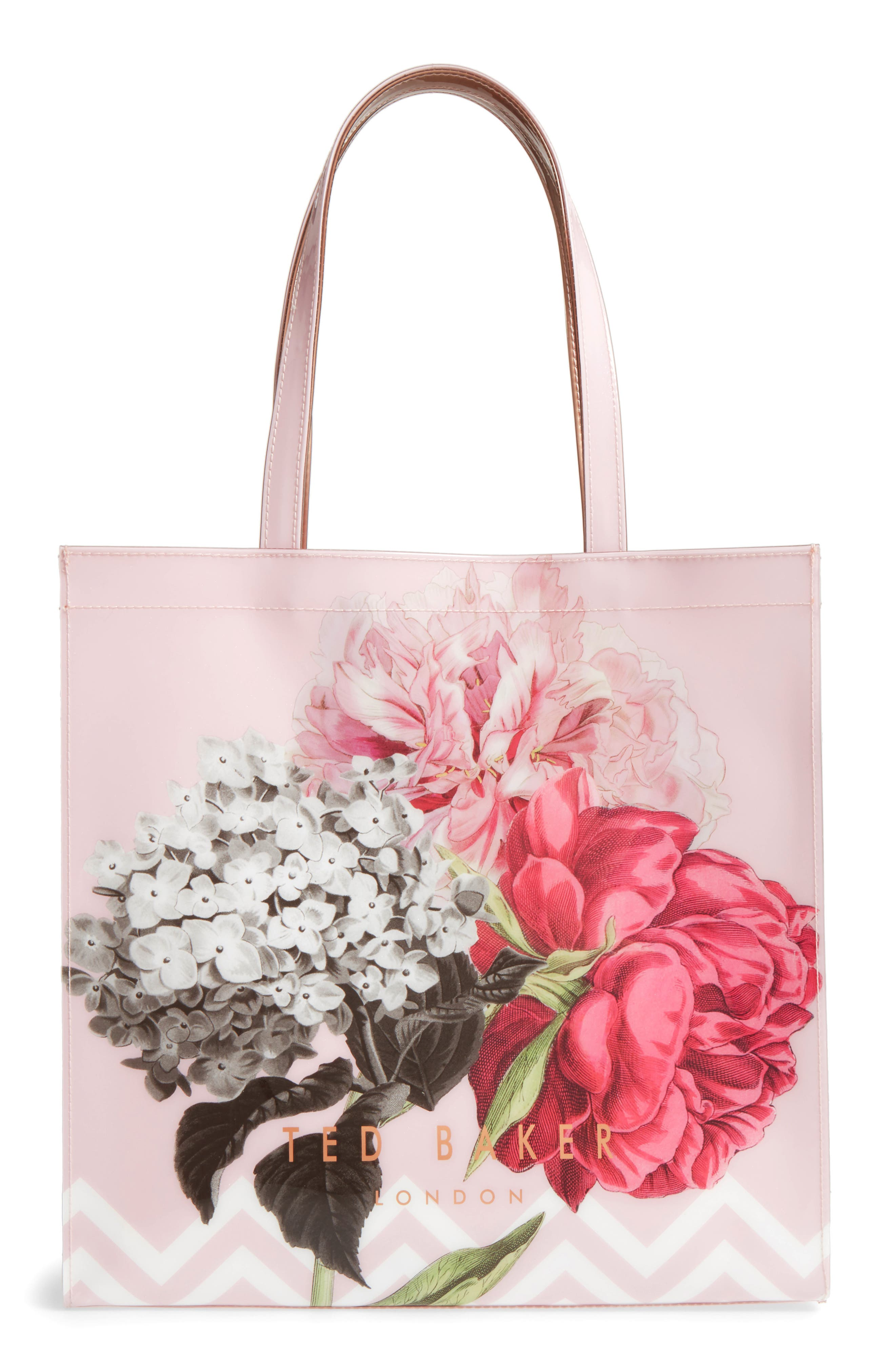 Palace Gardens Large Icon Tote,                         Main,                         color, Dusky Pink