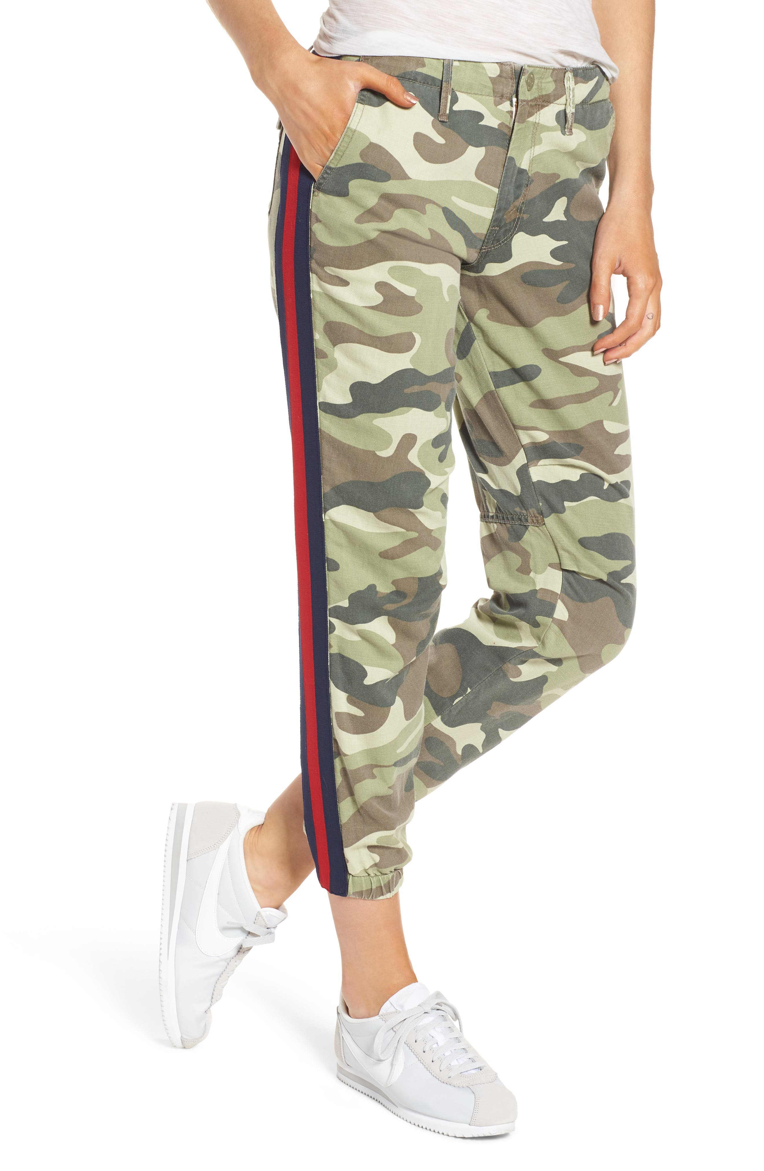 MOTHER The Misfit Crop Pants (Camouflage)