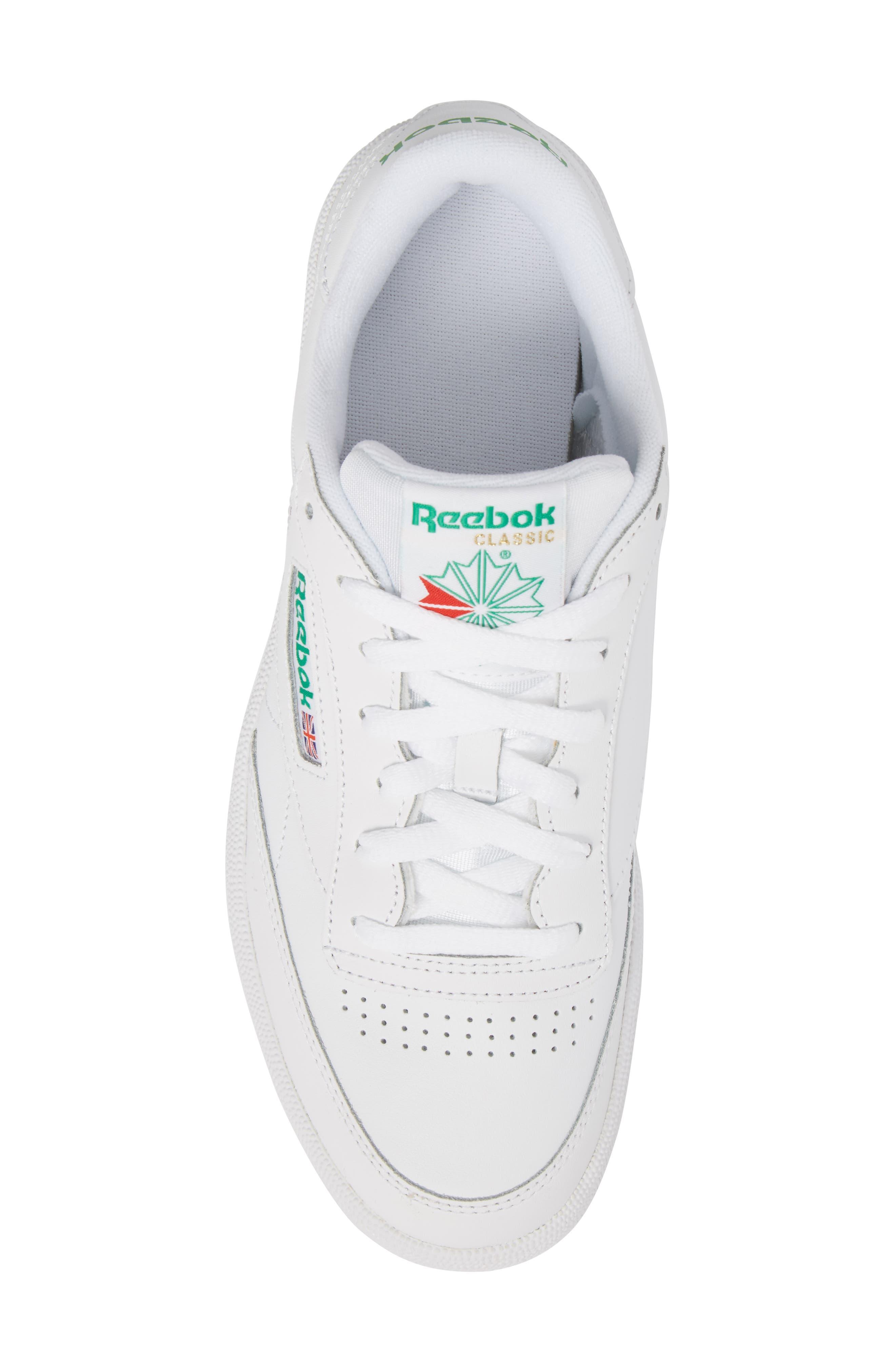 Club C 85 Sneaker,                             Alternate thumbnail 5, color,                             White
