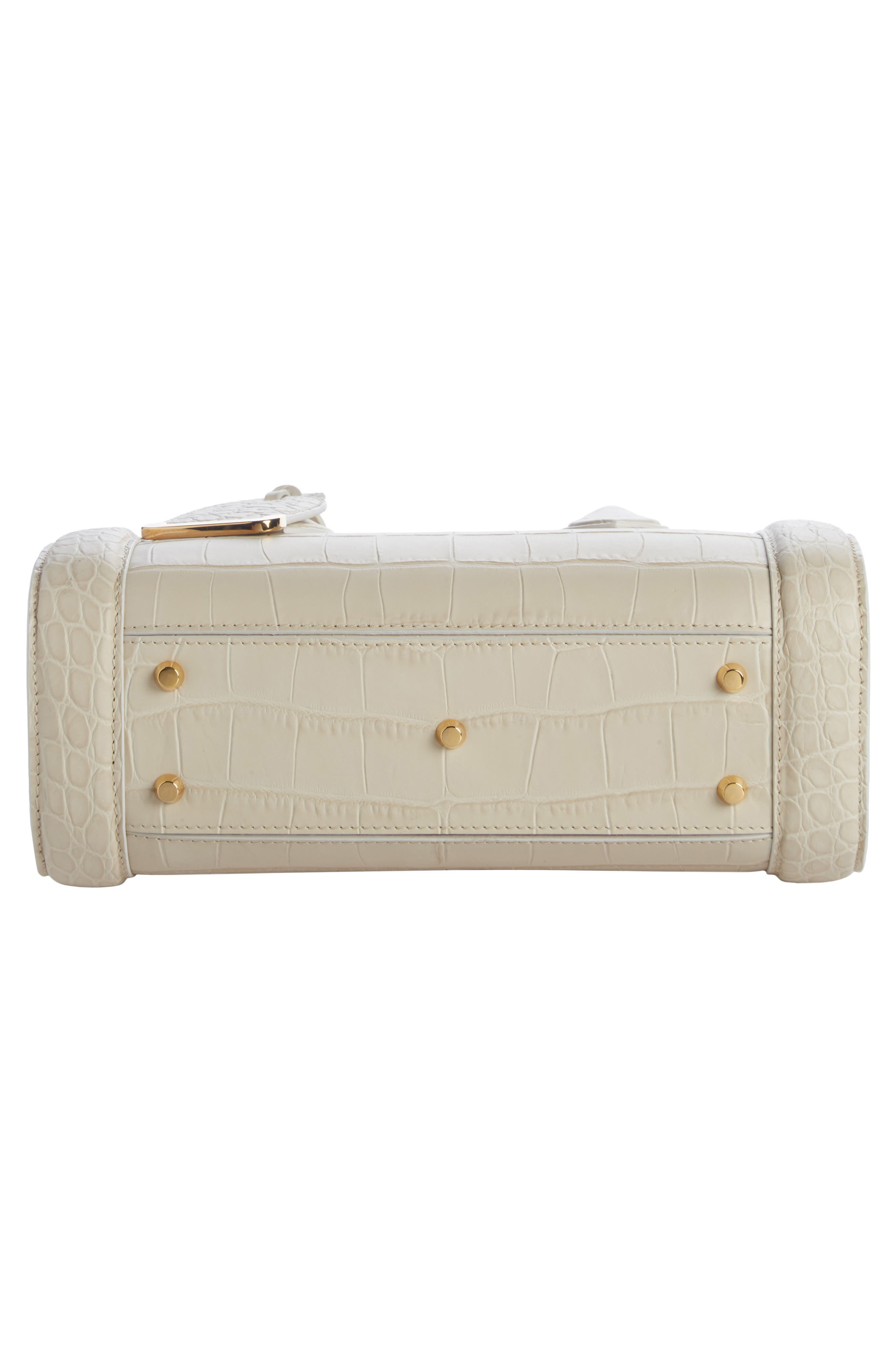 Heroine 30 Leather Satchel,                             Alternate thumbnail 4, color,                             White Bone