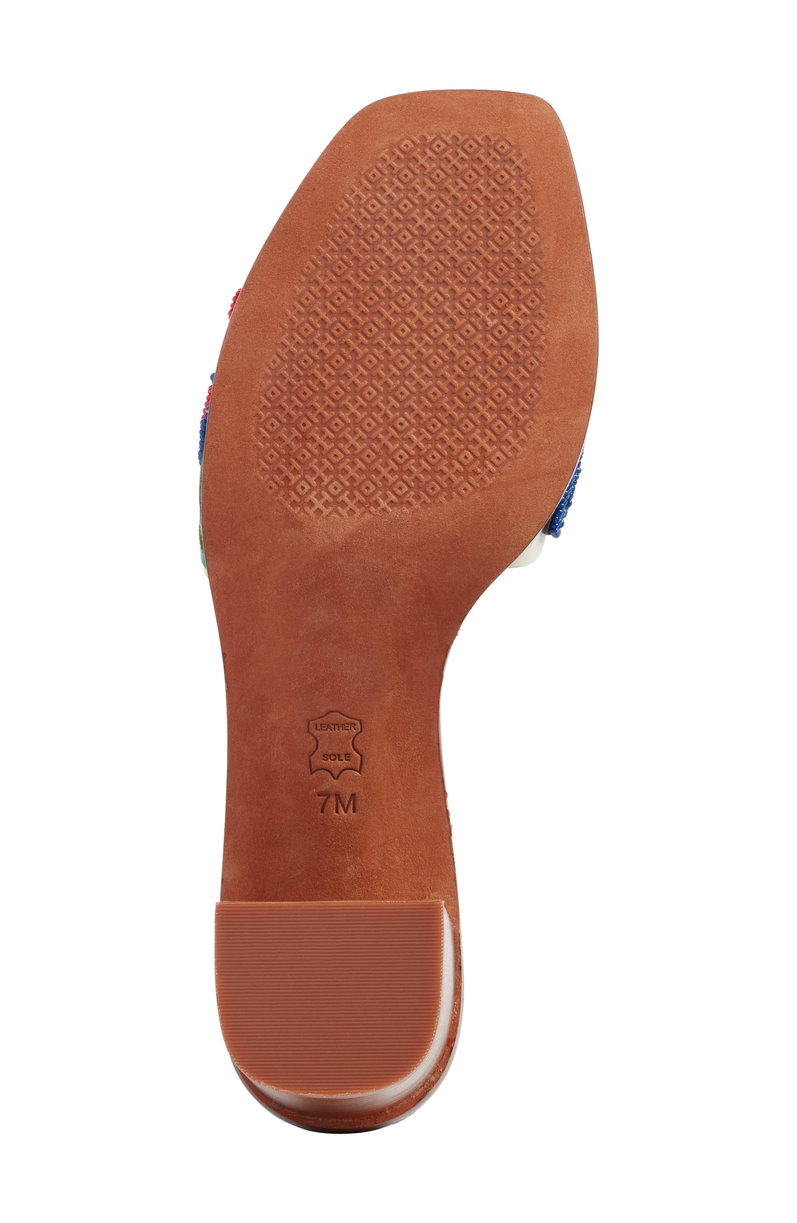 Bianca Floral Embellished Slide Sandal,                             Alternate thumbnail 6, color,                             Perfect Ivory/ Multi Color