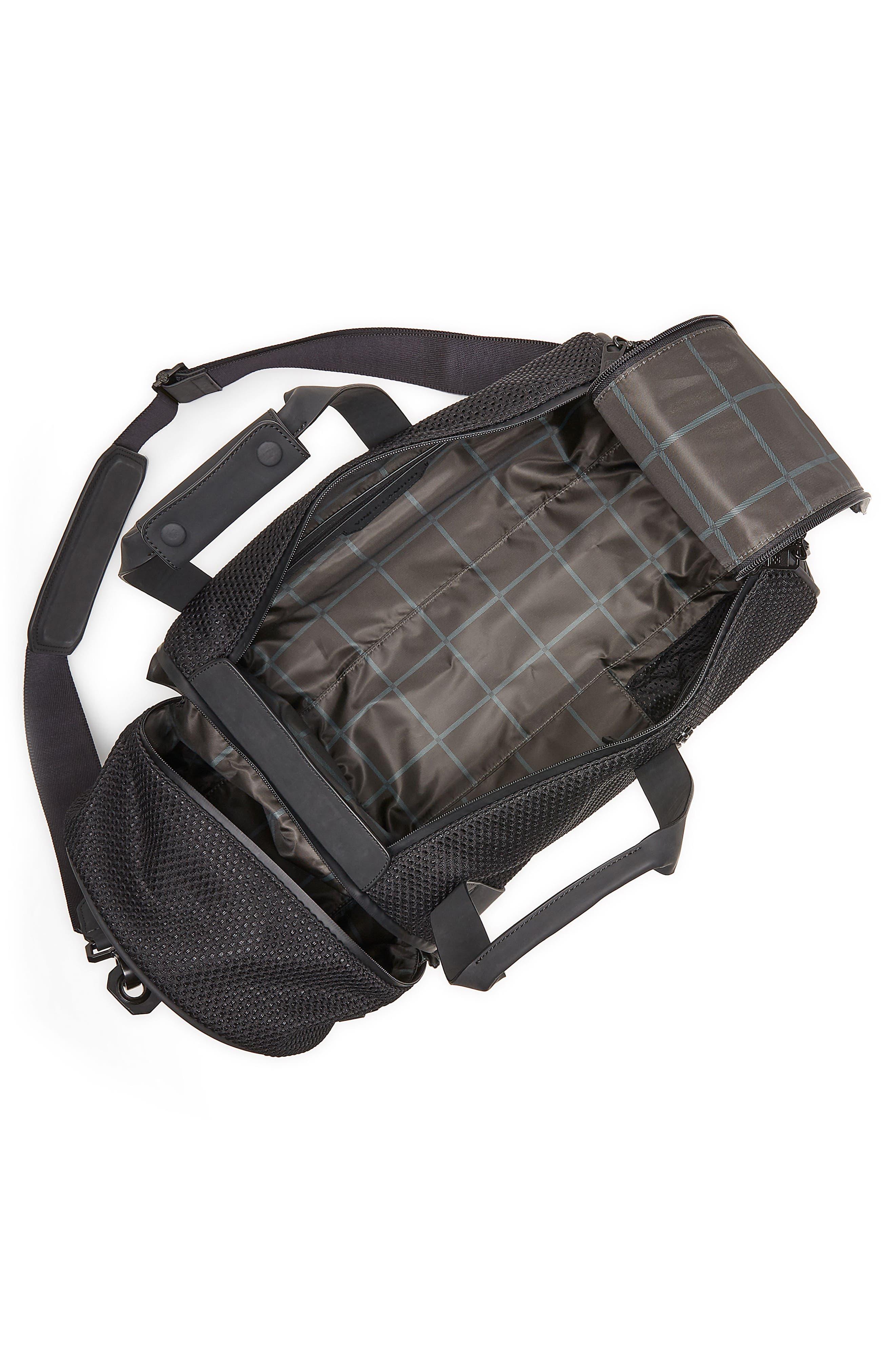 Urban Mesh Duffel Bag,                             Alternate thumbnail 3, color,                             Black