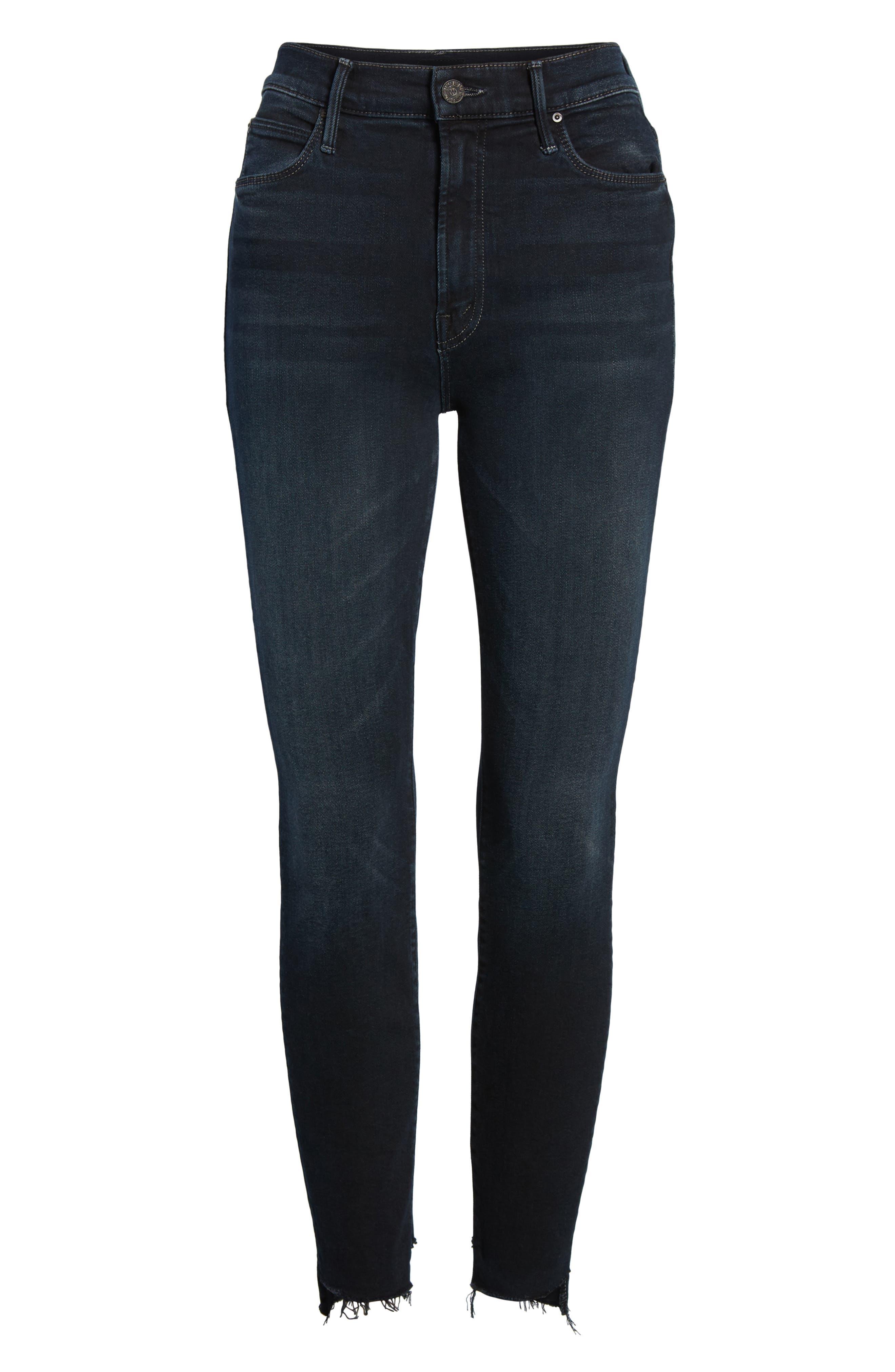 The Stunner High Waist Fray Ankle Skinny Jeans,                             Alternate thumbnail 7, color,                             Last Call