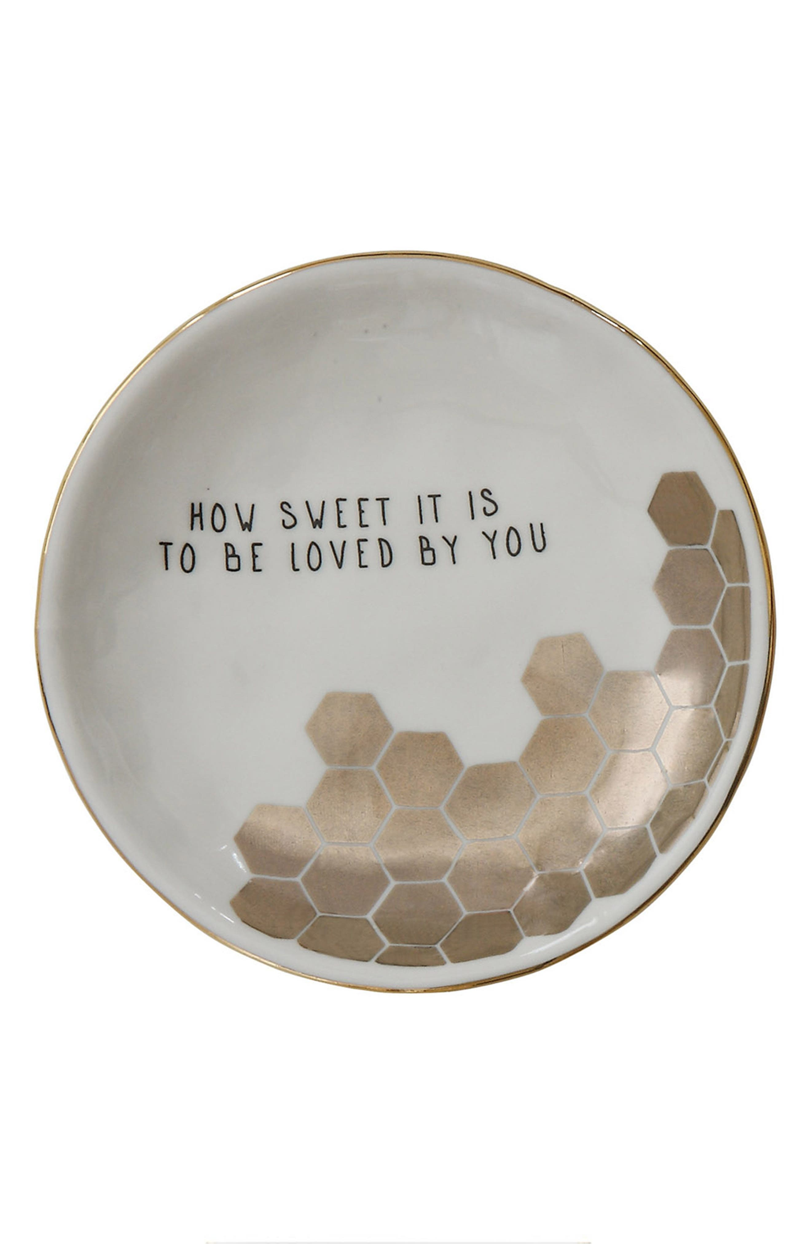 Creative Co-Op How Sweet It Is Stoneware Plate