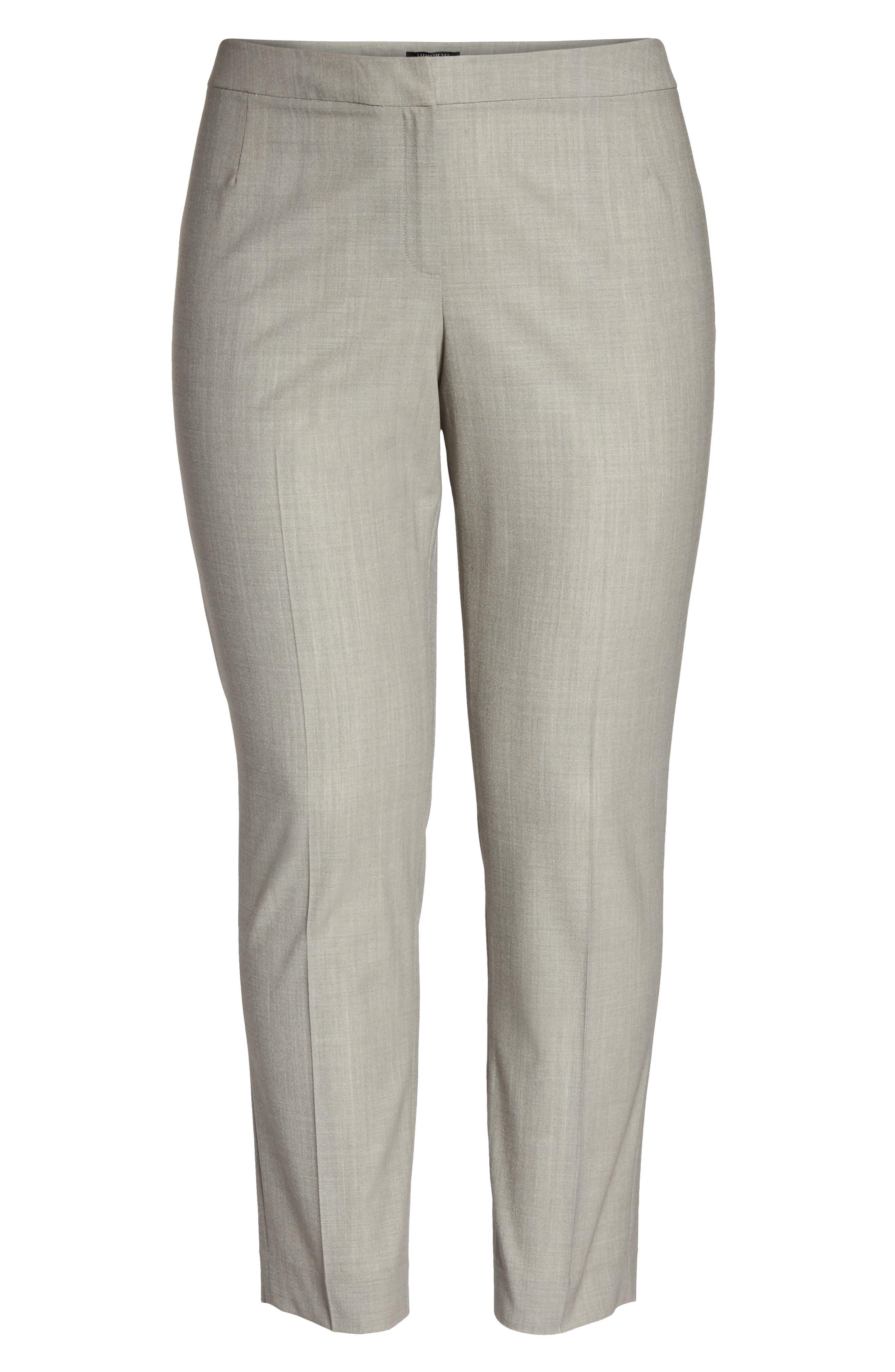 Bleecker Stretch Wool Suit Pants,                             Alternate thumbnail 6, color,                             Feather Grey Melange