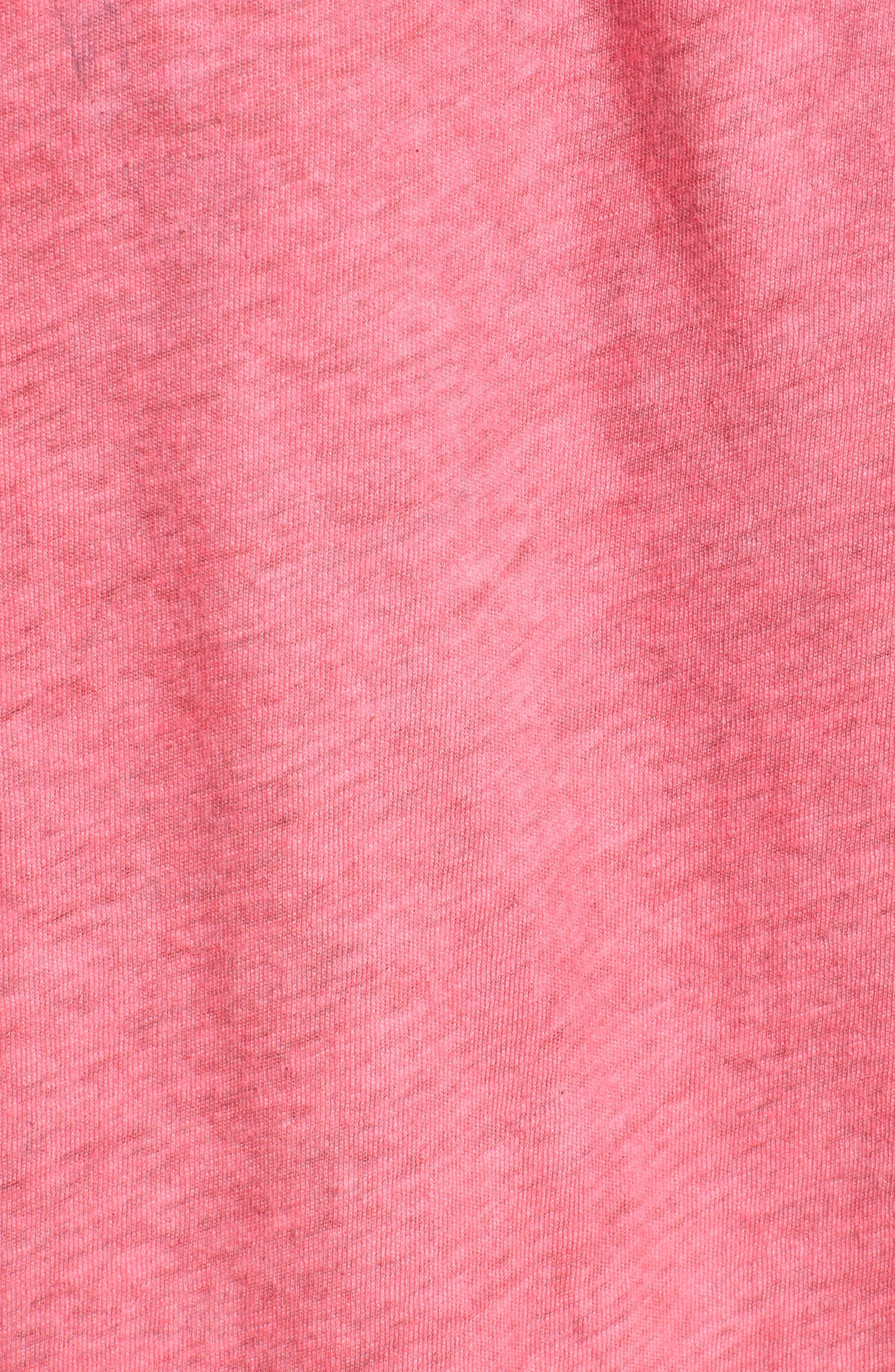 Rad Rainbow Ringer Tee,                             Alternate thumbnail 5, color,                             Neon Pink
