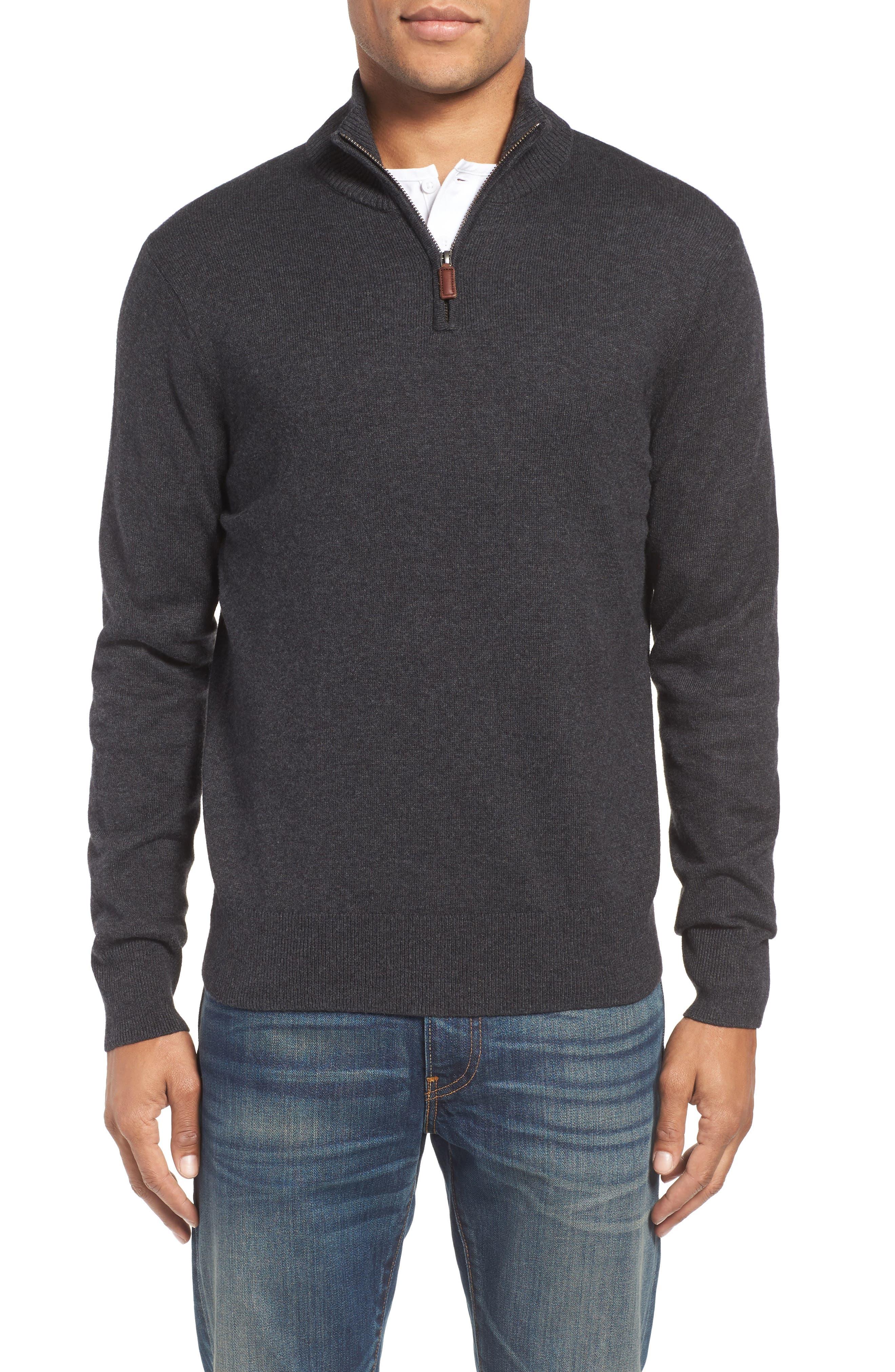 Alternate Image 1 Selected - Bonobos Cotton & Cashmere Quarter Zip Sweater