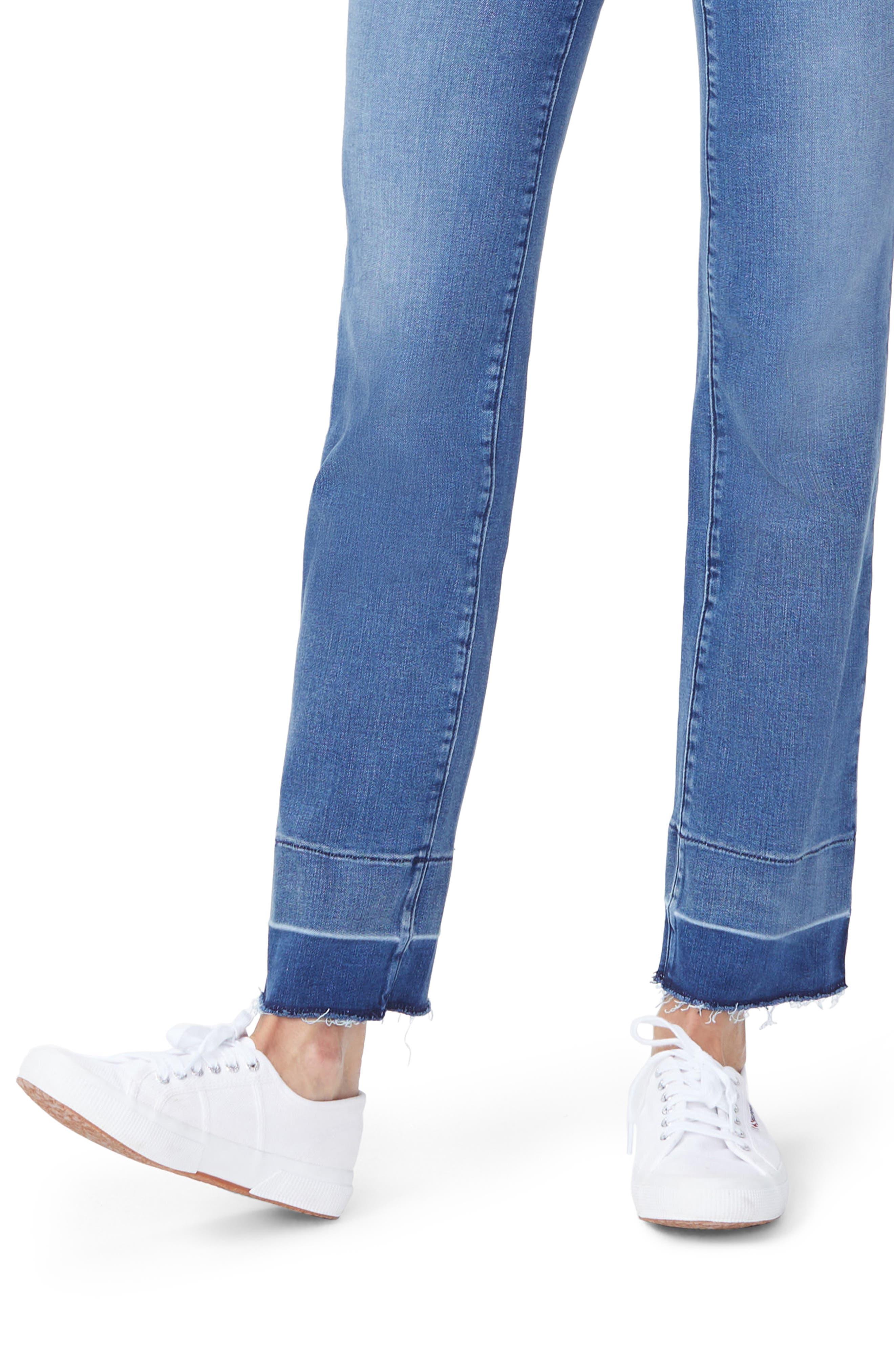 Marilyn Wide Release Hem Straight Leg Jeans,                             Alternate thumbnail 3, color,                             Wishful