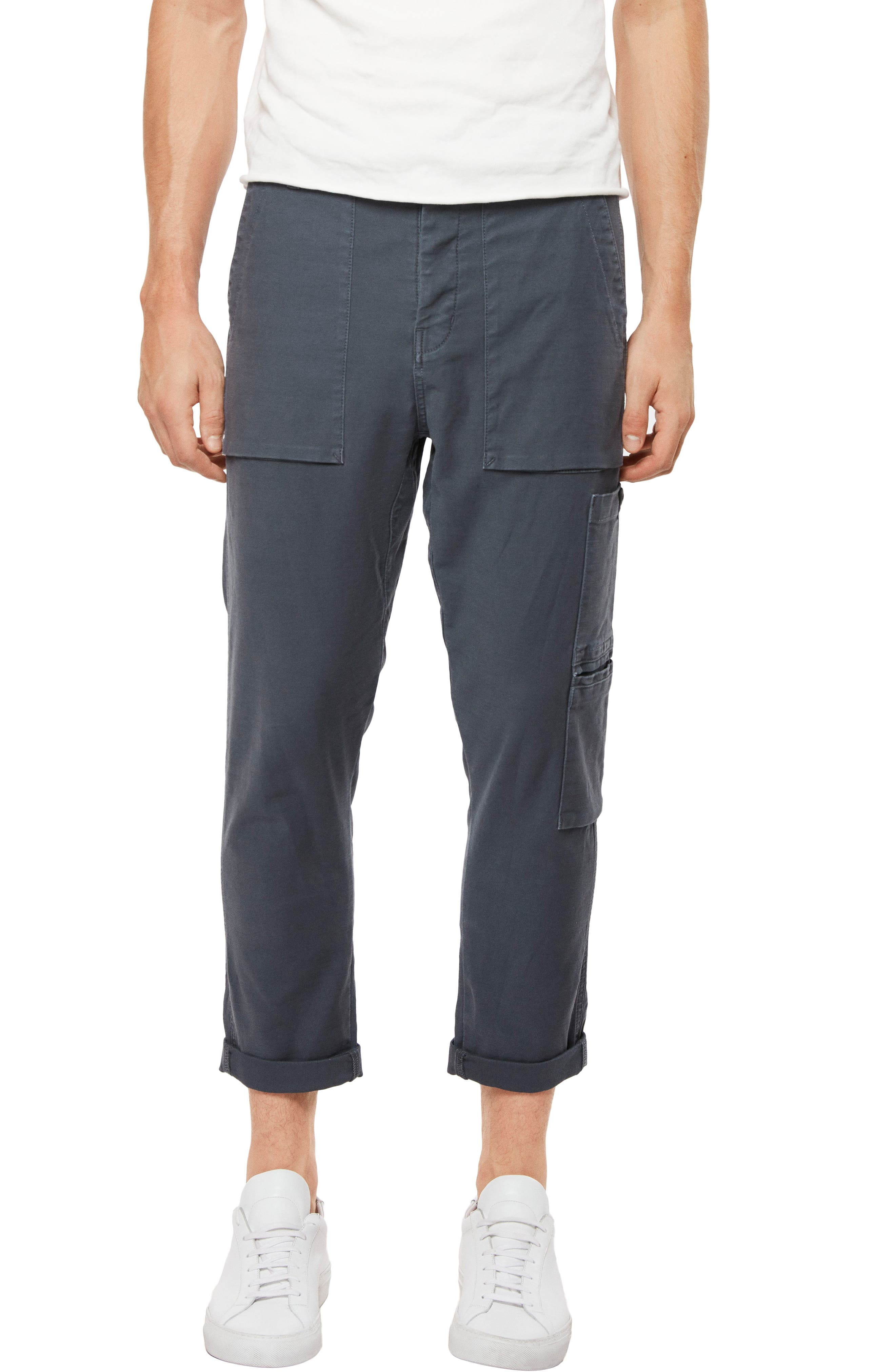 Koeficient Relaxed Fit Cargo Crop Pants,                         Main,                         color, Dull Bentonite