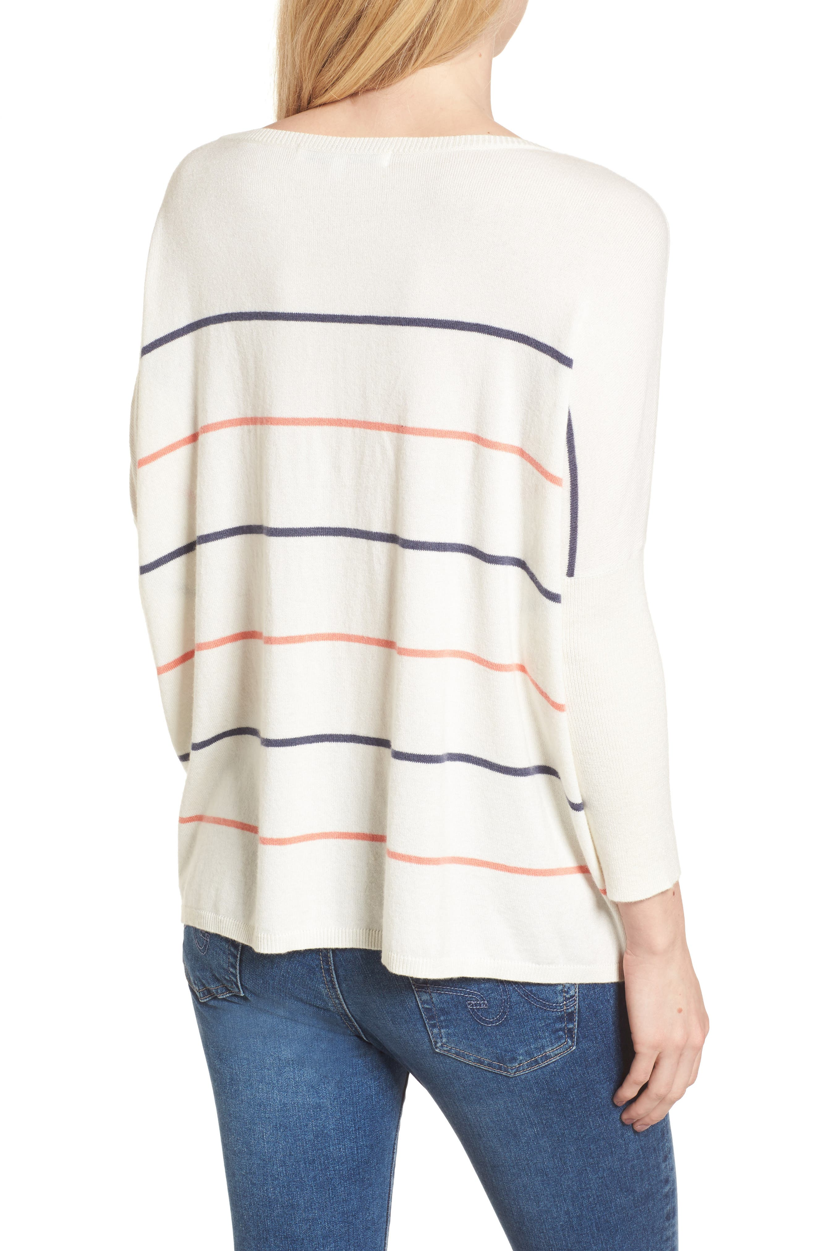 Cascada Stripe Sweater,                             Alternate thumbnail 2, color,                             Ivory