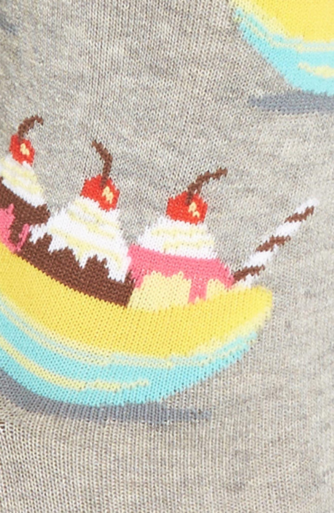 Banana Splits Crew Socks,                             Alternate thumbnail 2, color,                             Grey Heather