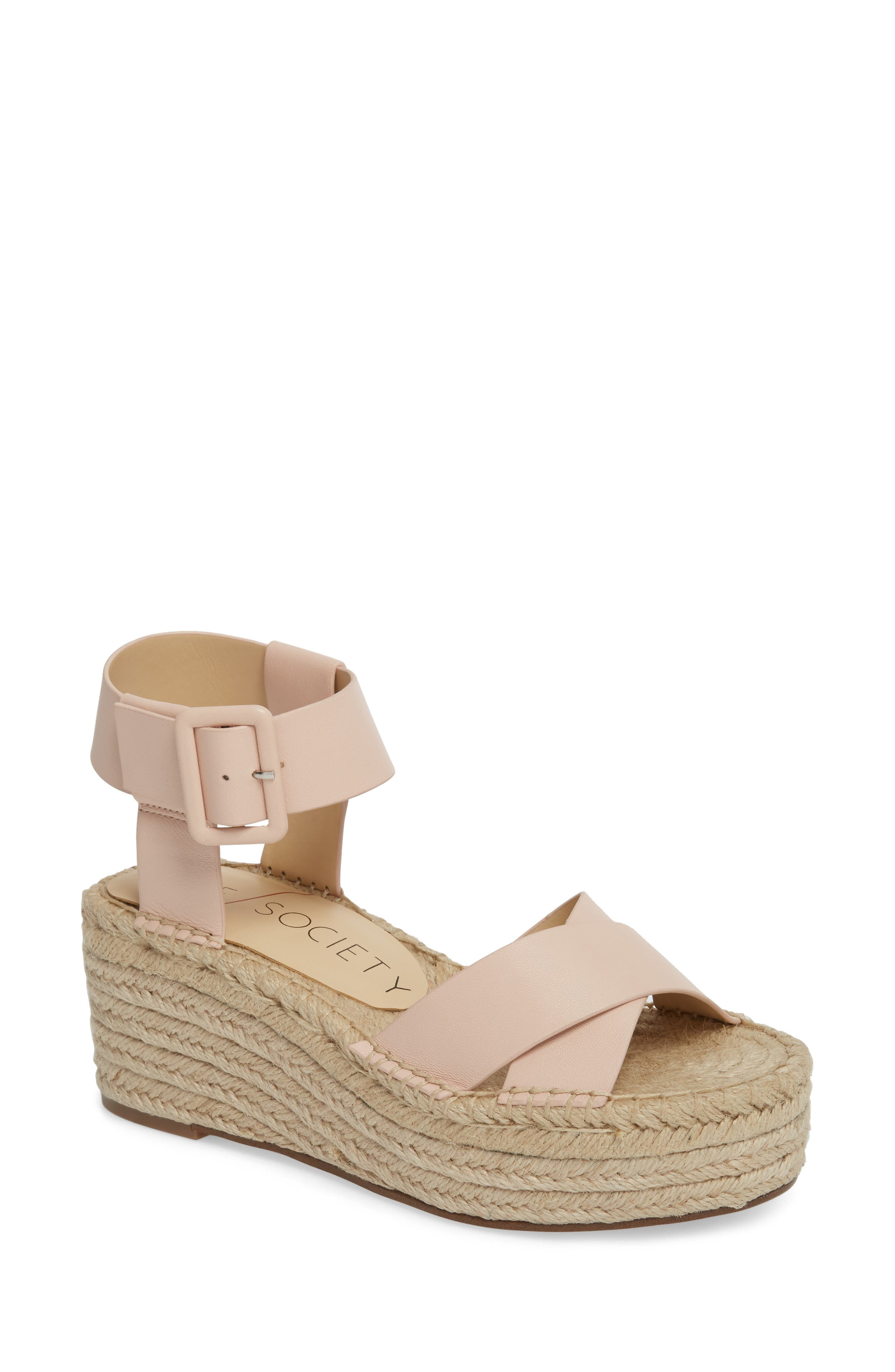 'Audrina' Platform Espadrille Sandal,                         Main,                         color, Rose Blush
