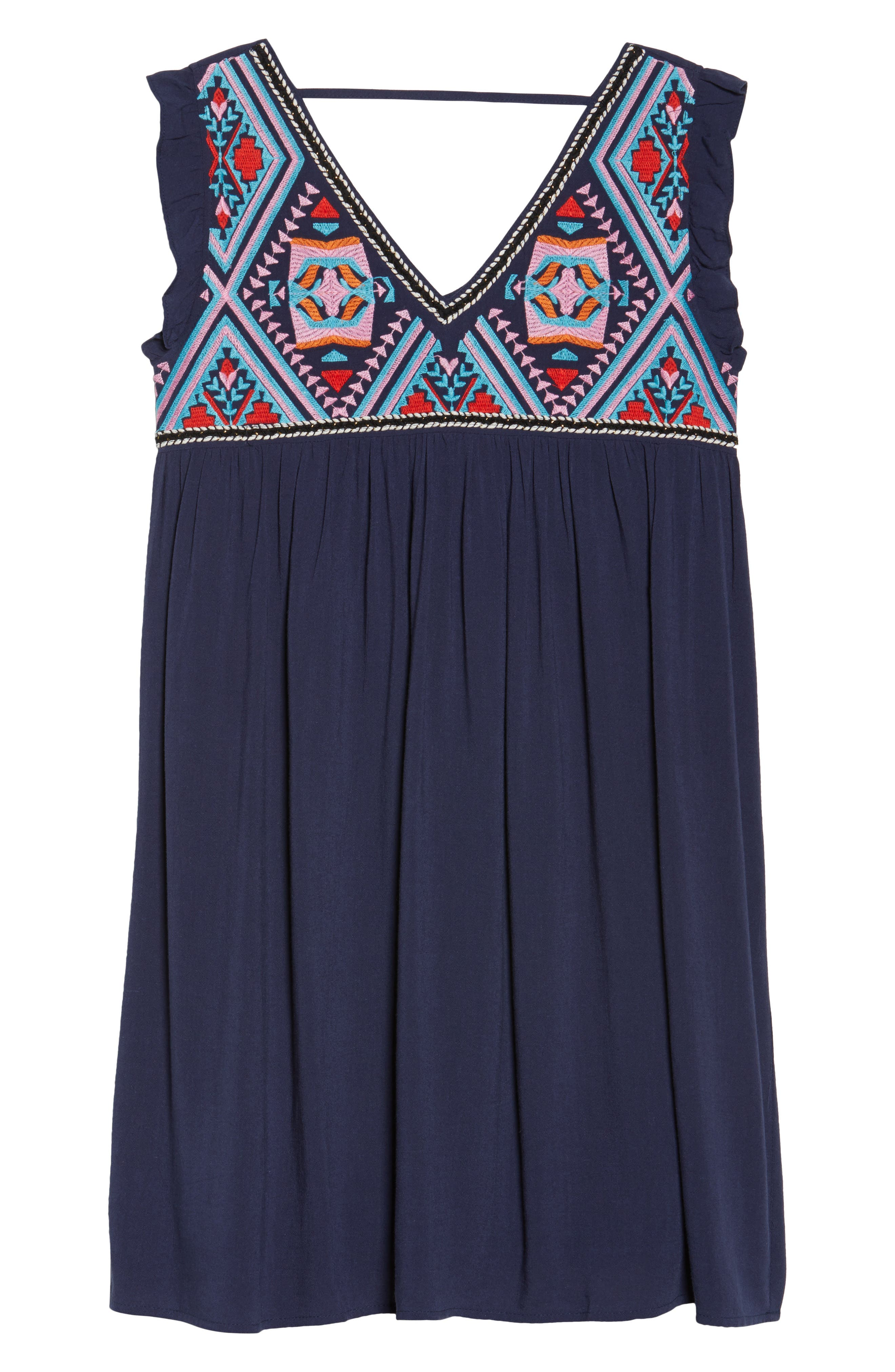 Alternate Image 6  - THML Embroidered Empire Waist Dress