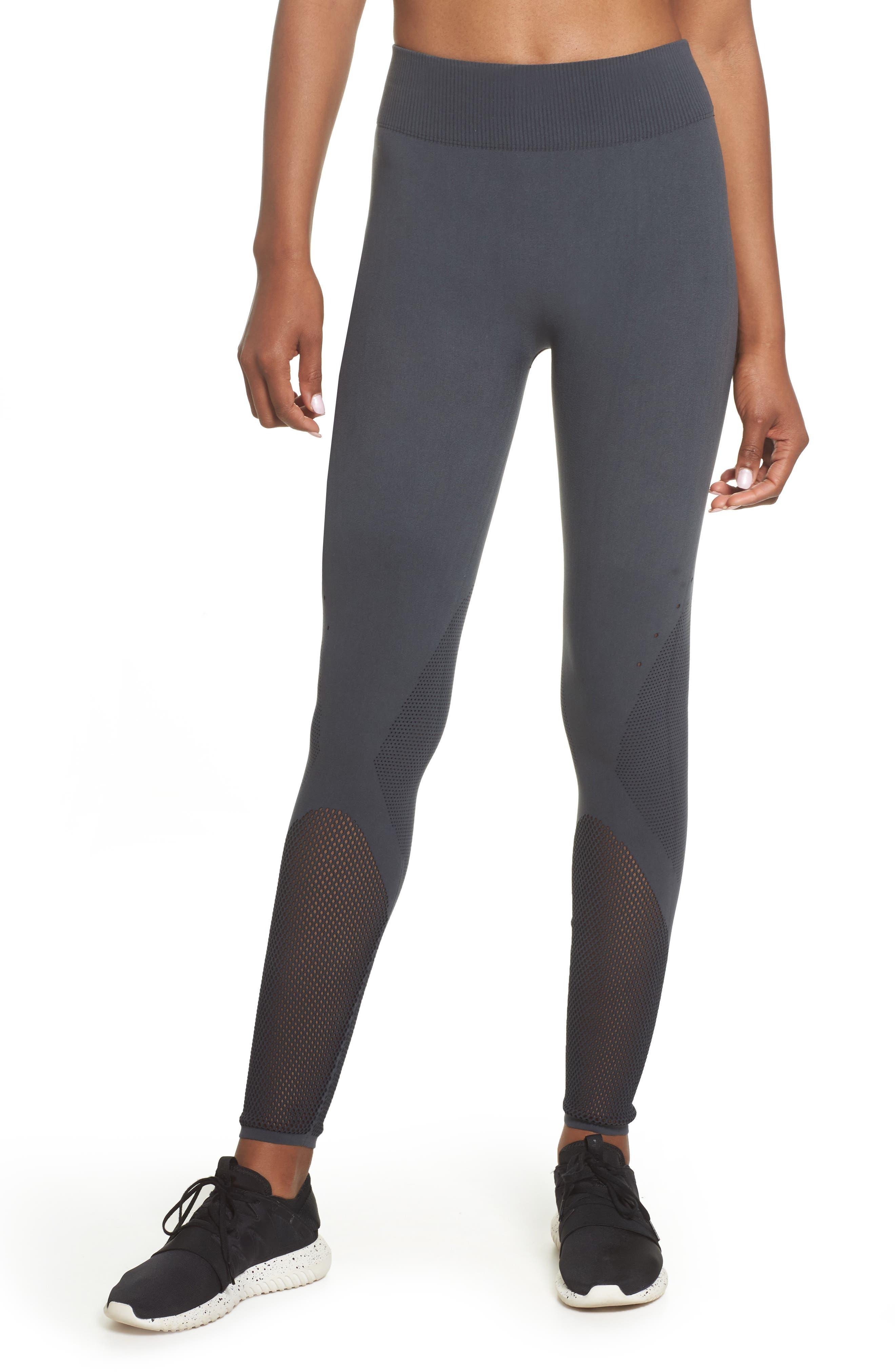 Warp Climacool<sup>®</sup> Knit Tights,                         Main,                         color, Carbon/ Black