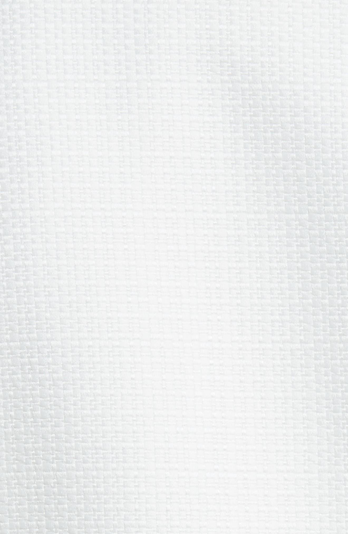 Lace Trim Crop Jacket,                             Alternate thumbnail 5, color,                             White