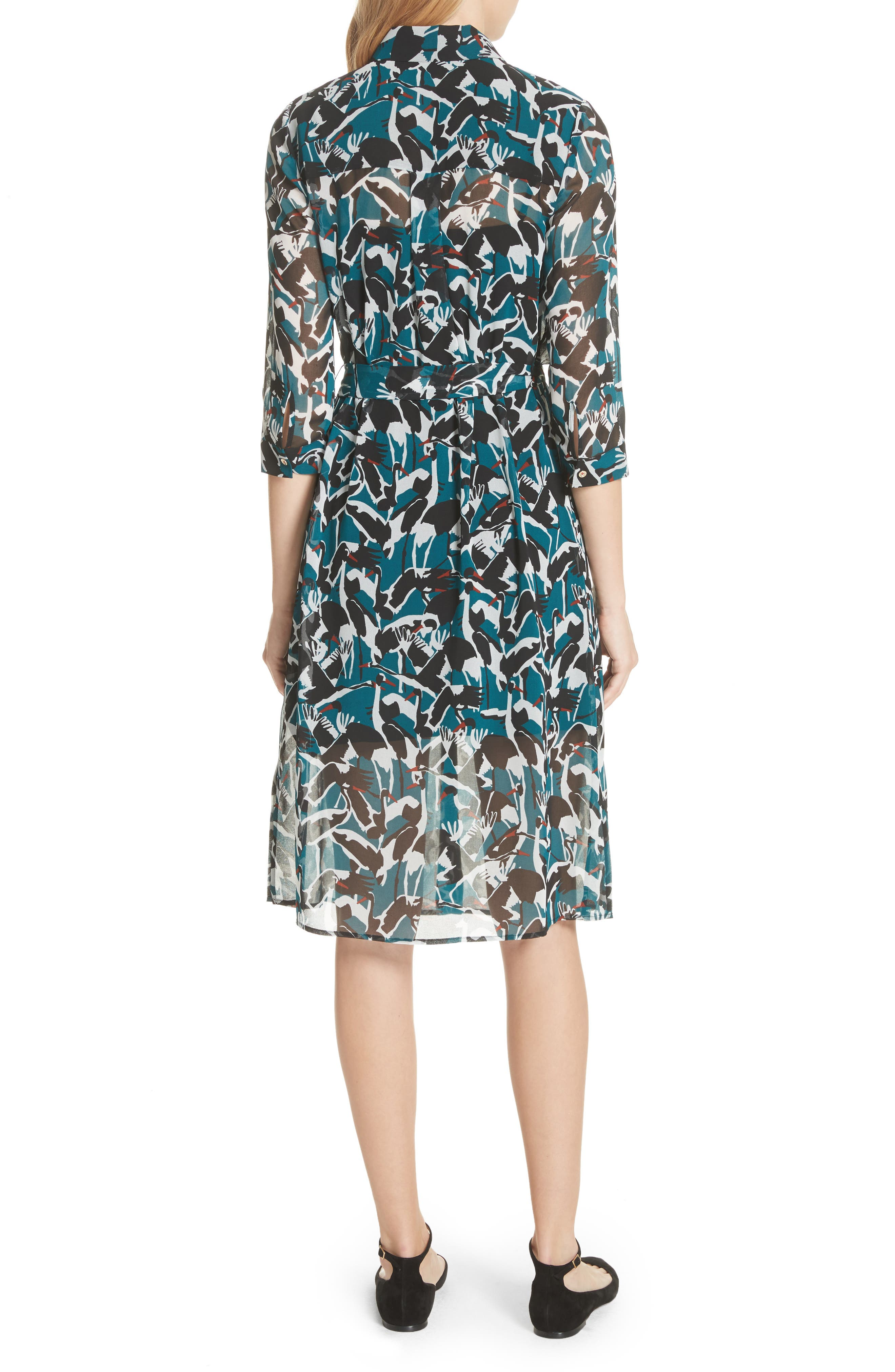 Alternate Image 2  - Ted Baker London Colour by Numbers Crane Shirtdress