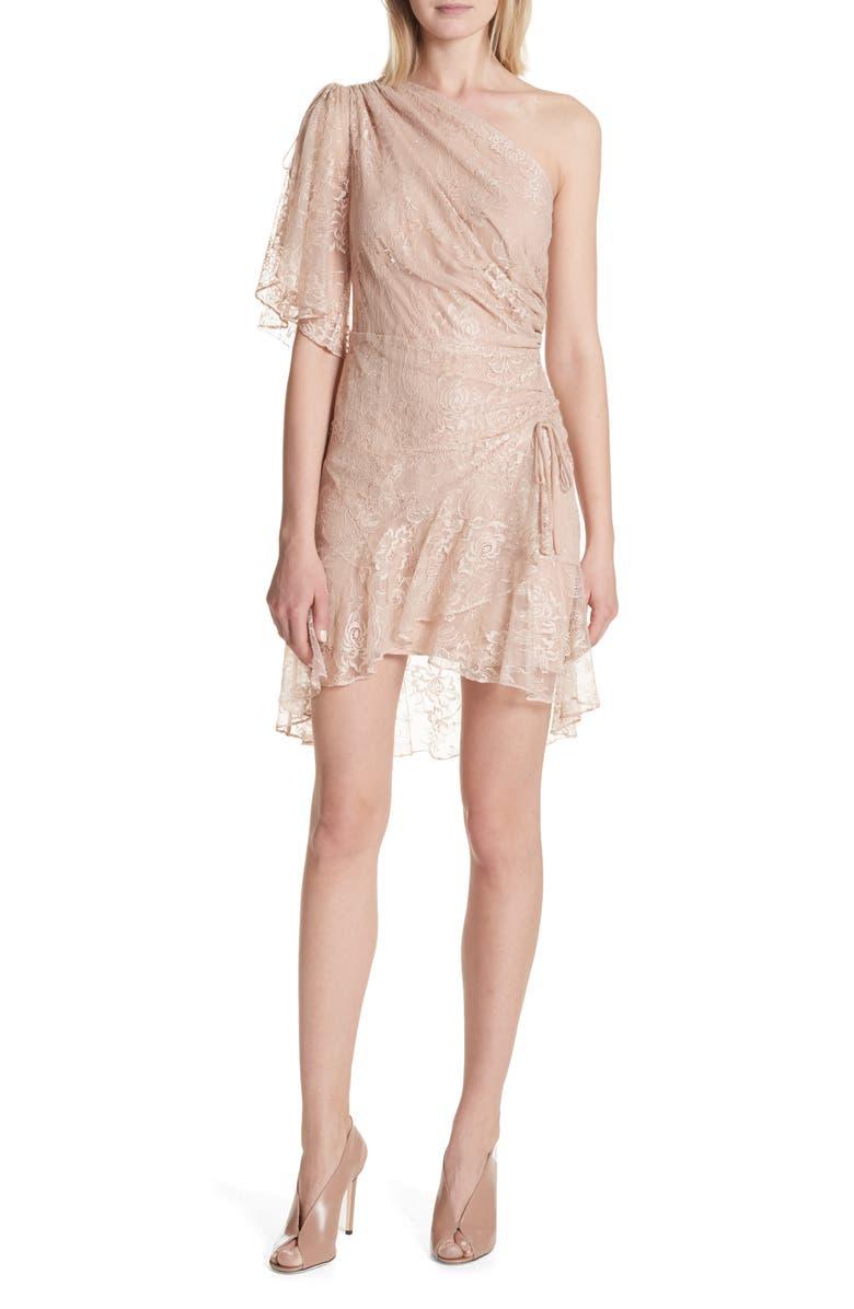 Misha One-Shoulder Lace Dress