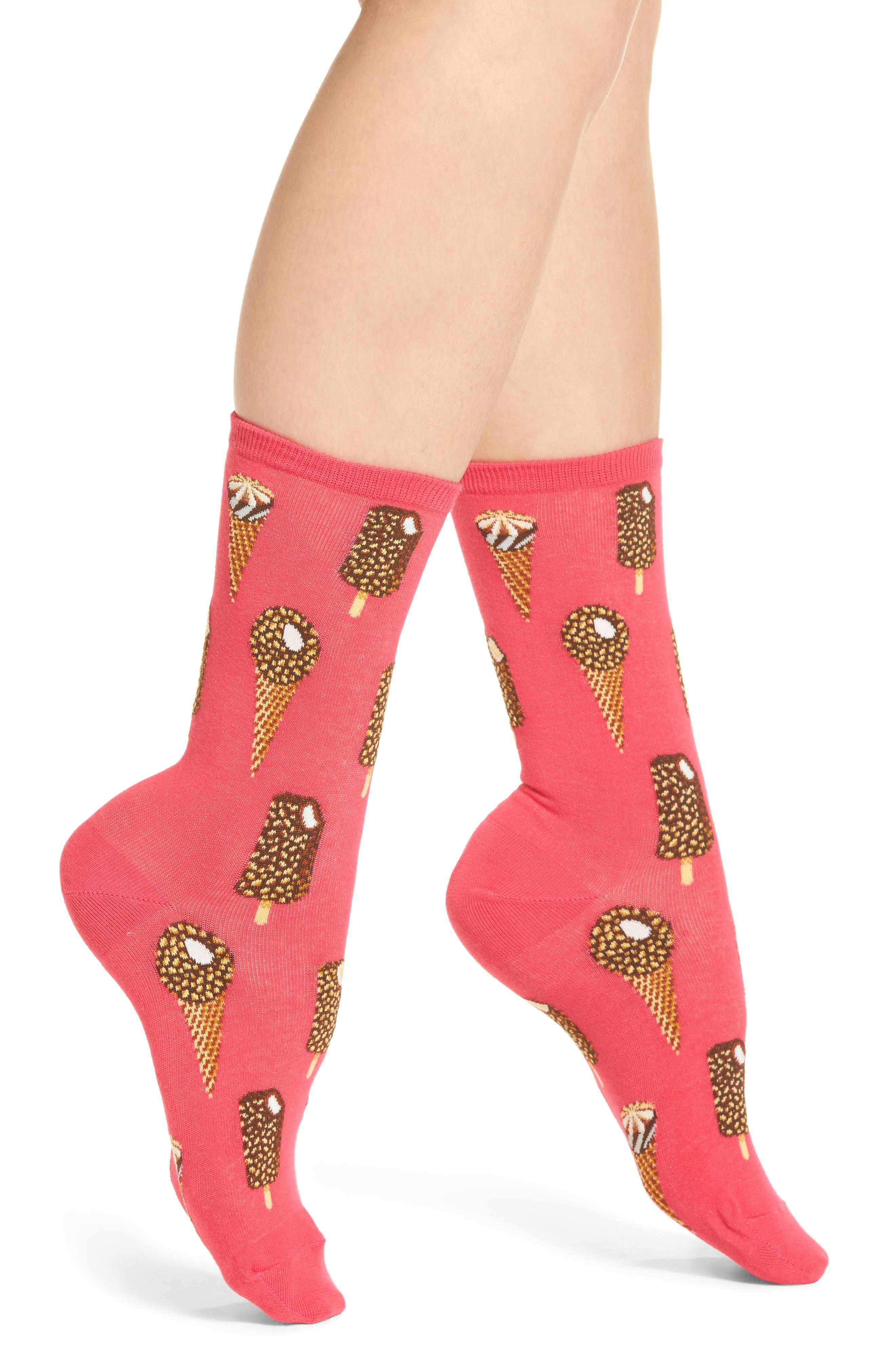 Hot Sox Ice Cream Crew Socks (3 for $15)