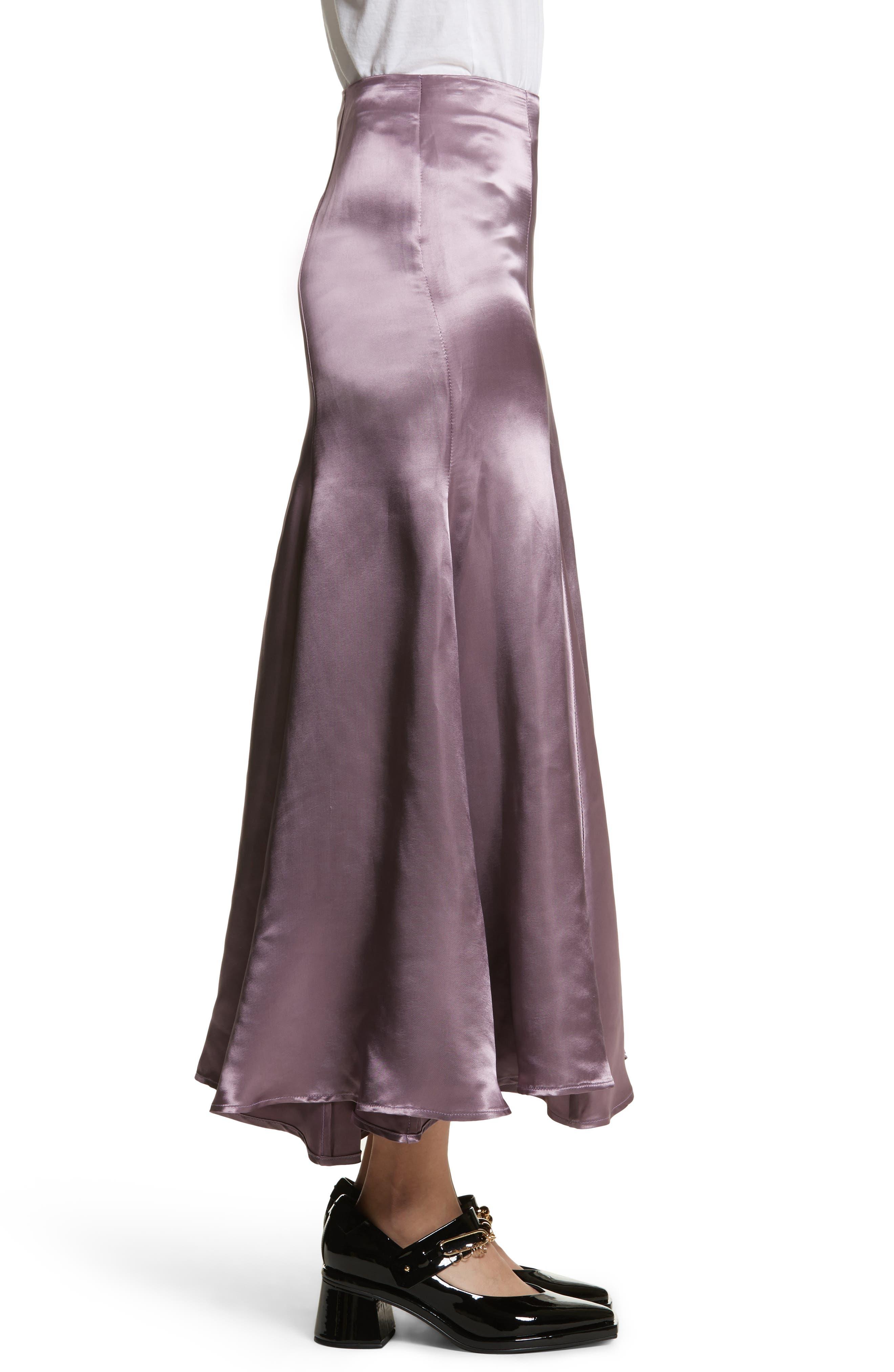 Cassini Satin Slip Skirt,                             Alternate thumbnail 3, color,                             Violet