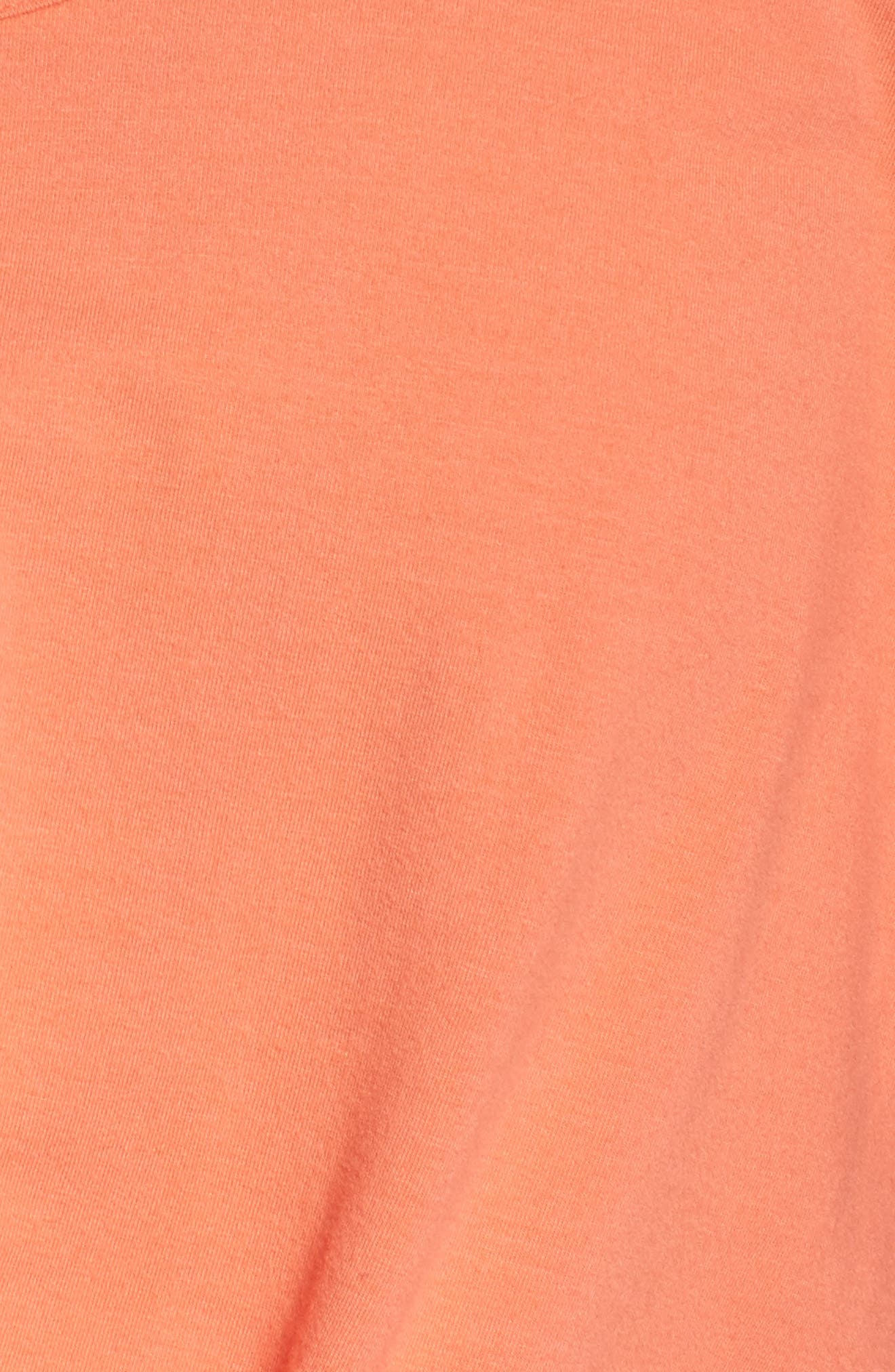 Knotty Crop Tee,                             Alternate thumbnail 6, color,                             Coral Reef