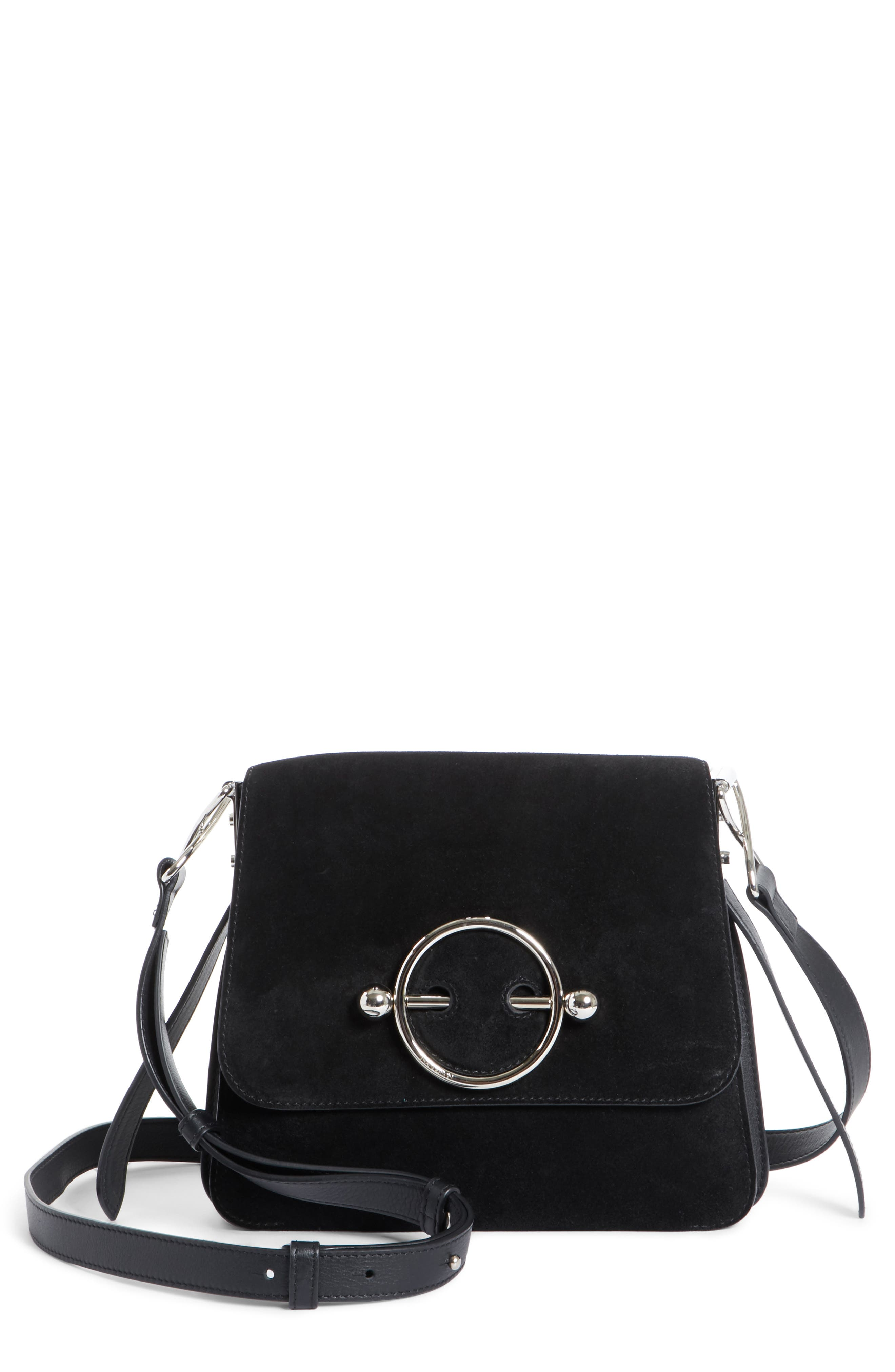 J.W.ANDERSON Disc Crossbody Bag,                             Main thumbnail 1, color,                             Black