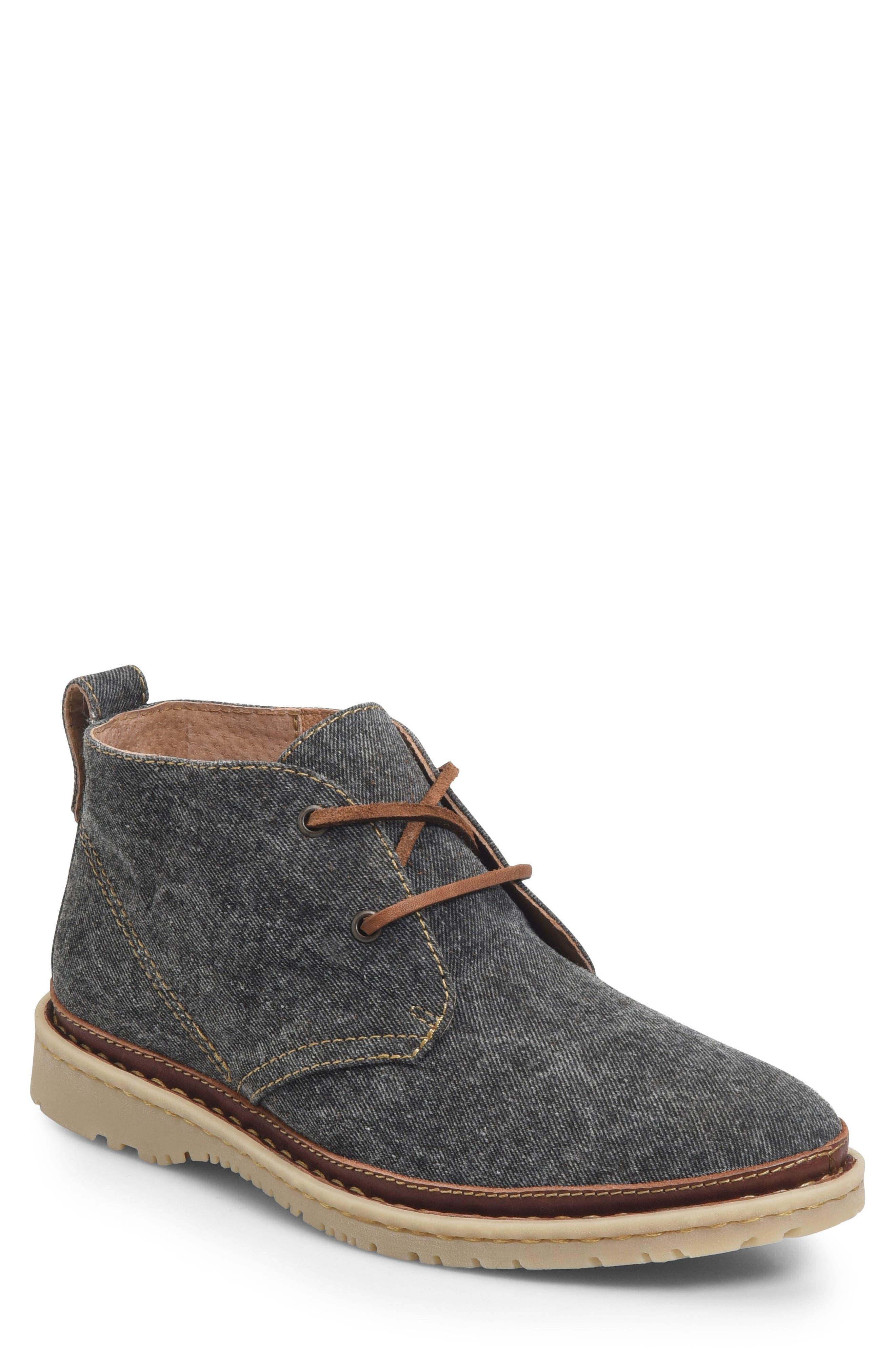 Elk II Chukka Boot,                             Main thumbnail 1, color,                             Dark Grey Fabric
