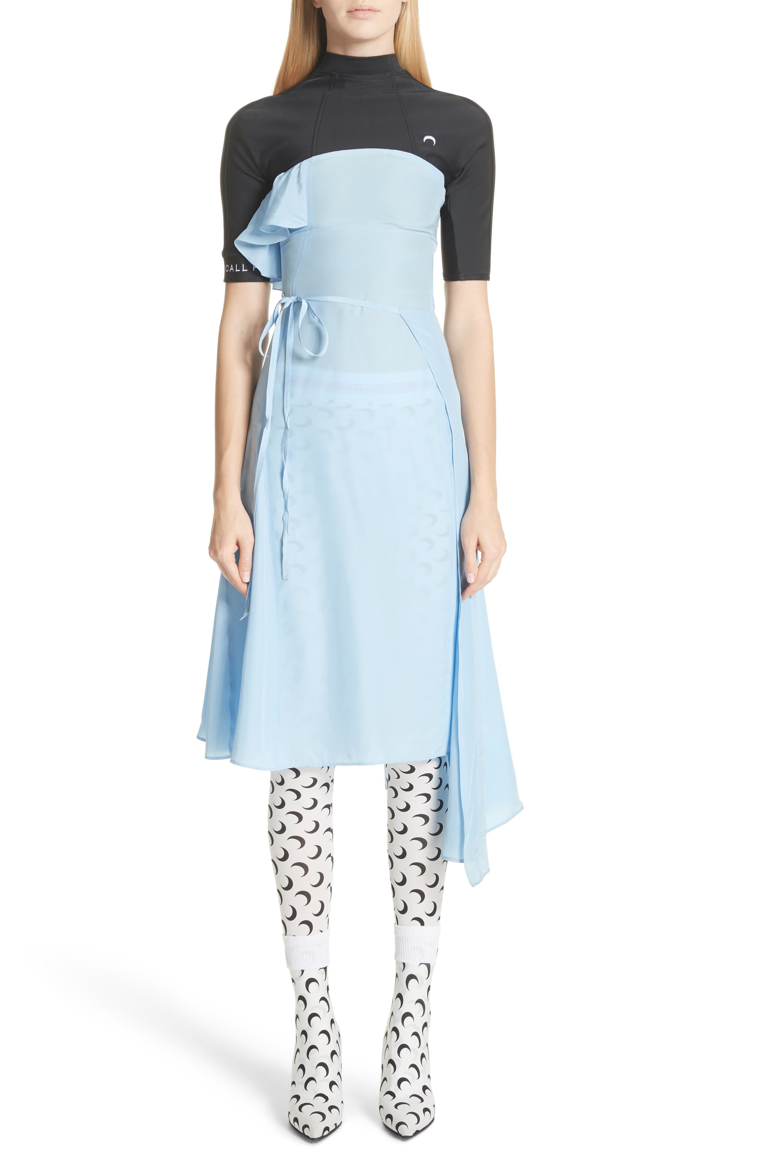 Hybrid Wrap Dress,                         Main,                         color, Blue