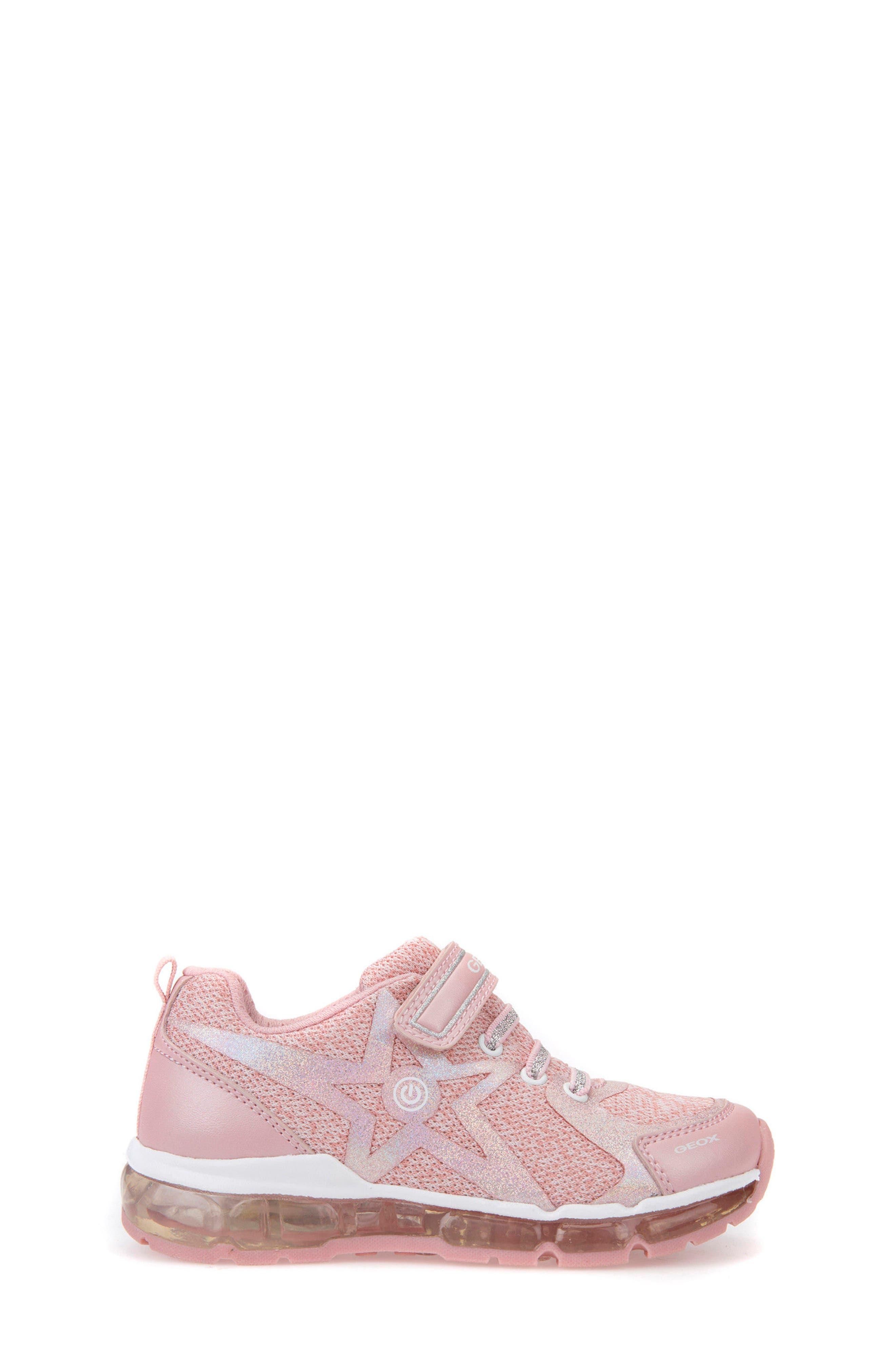 Android Light-Up Sneaker,                             Alternate thumbnail 3, color,                             Rose/ White