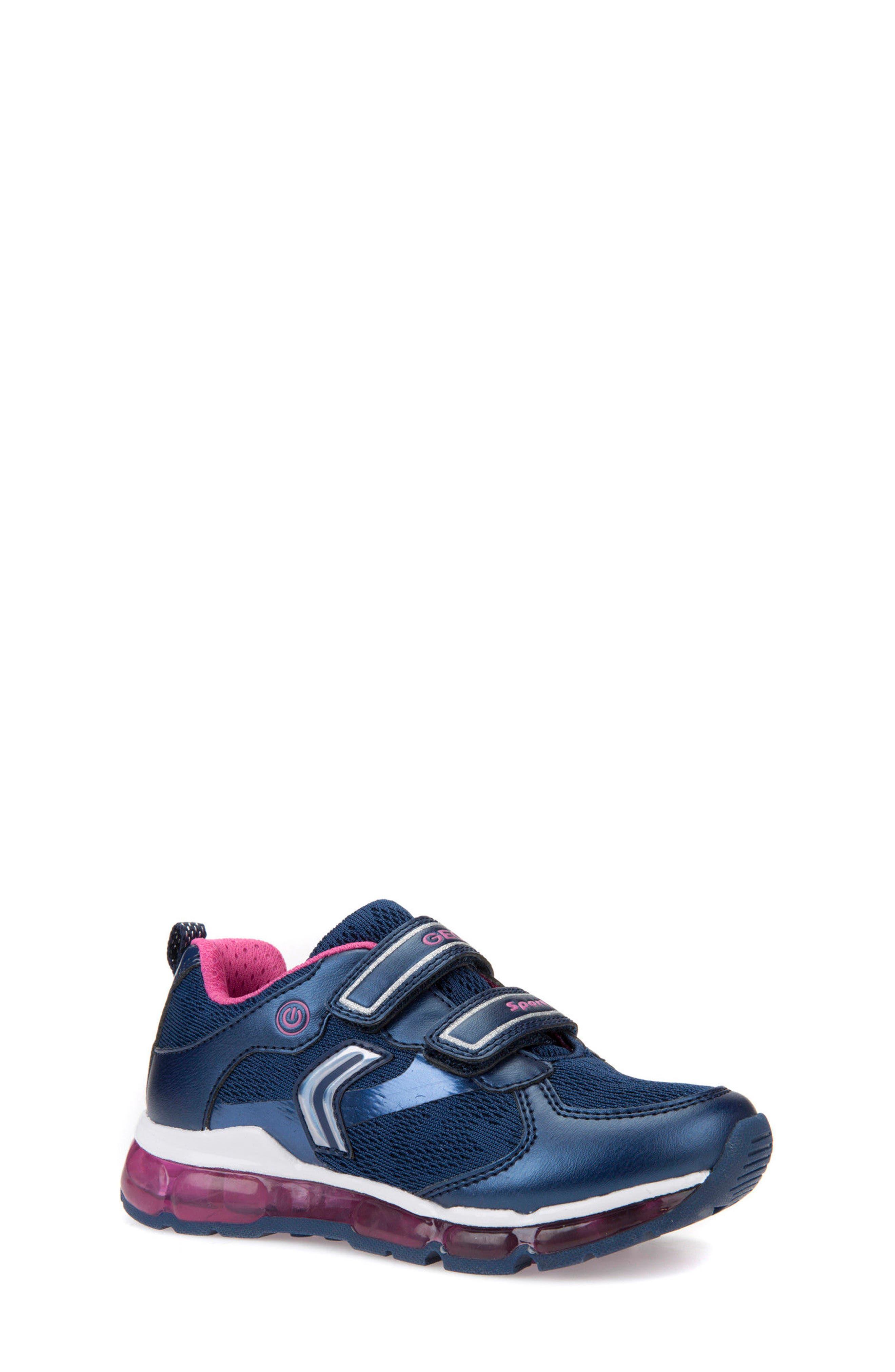 Android Light-Up Sneaker,                             Main thumbnail 1, color,                             Navy/ Fuchsia