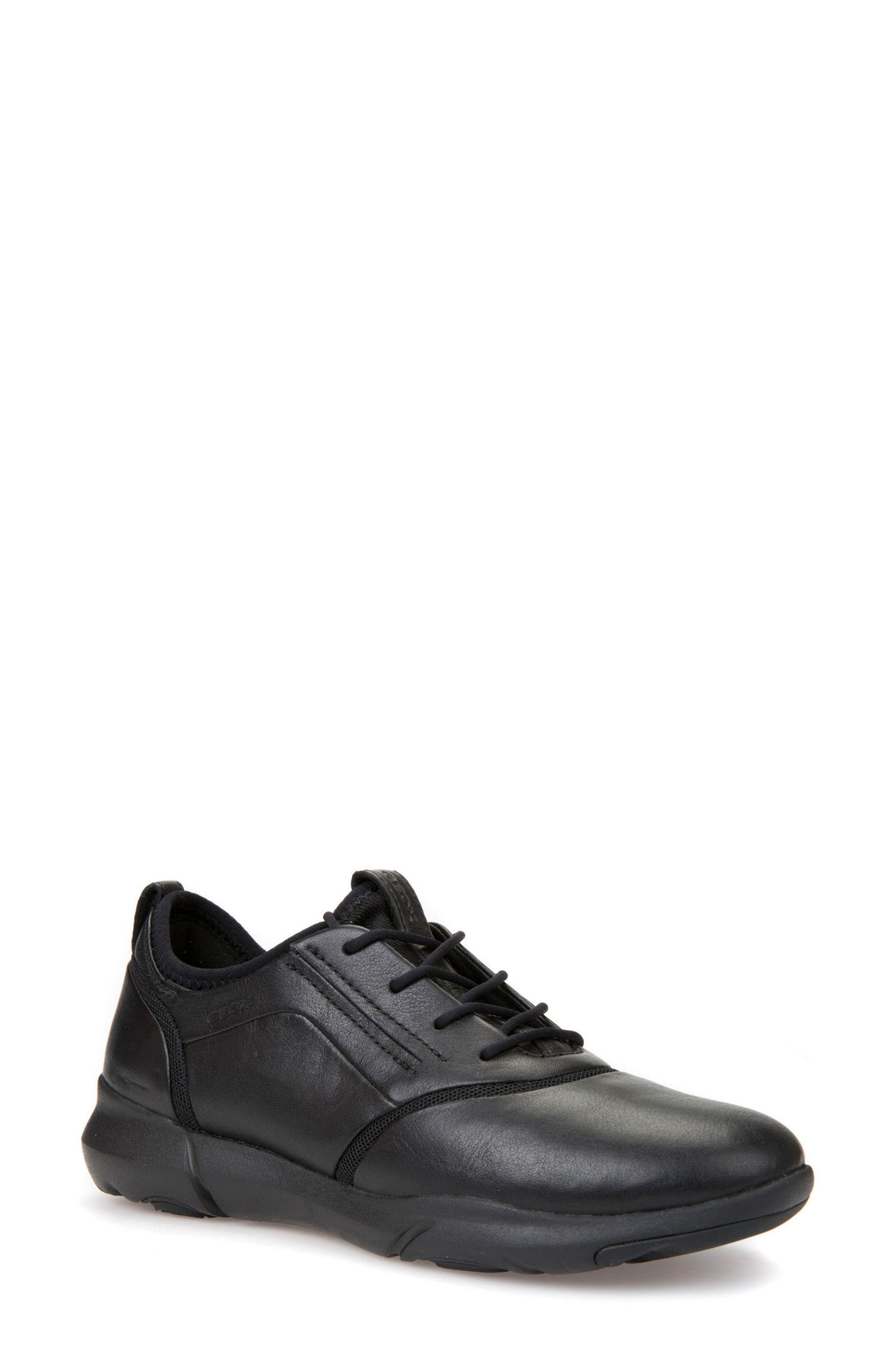 Nebula S 2 Low Top Sneaker,                         Main,                         color, Black Leather