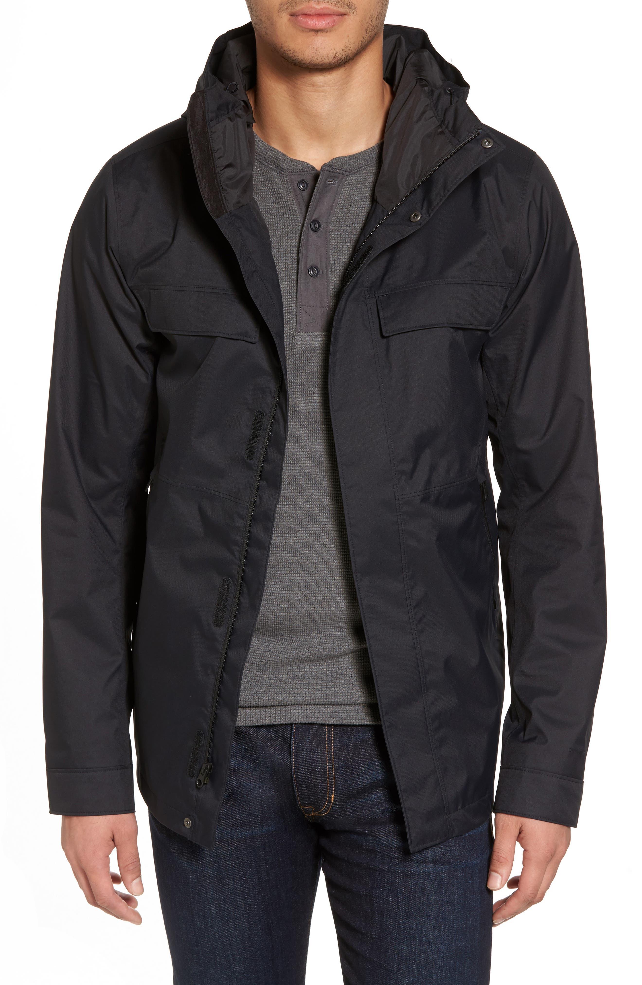 Jenison II Insulated Waterproof Jacket,                             Main thumbnail 1, color,                             Tnf Black