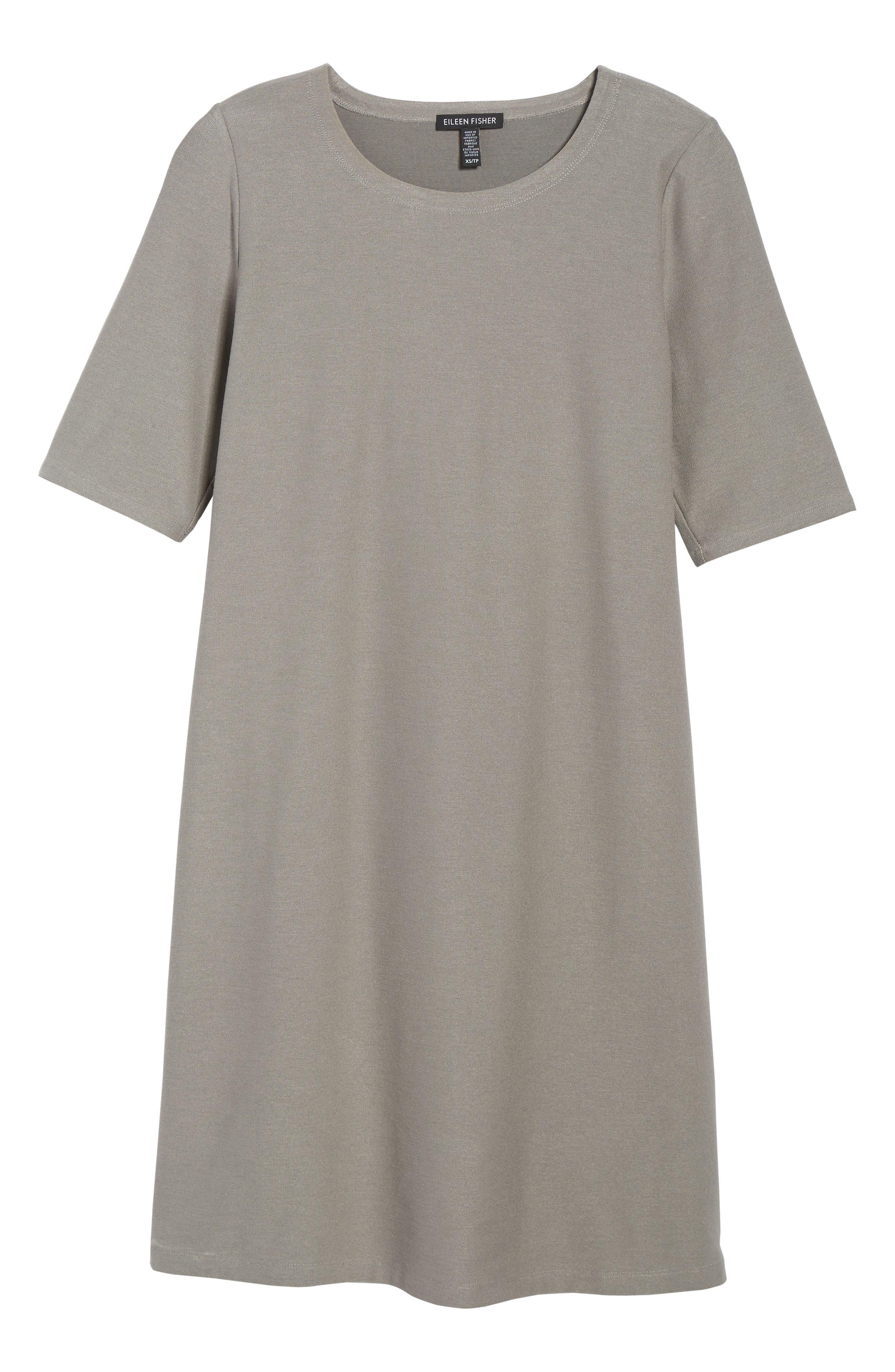 Stretch Knit Shift Dress,                         Main,                         color, Smoke