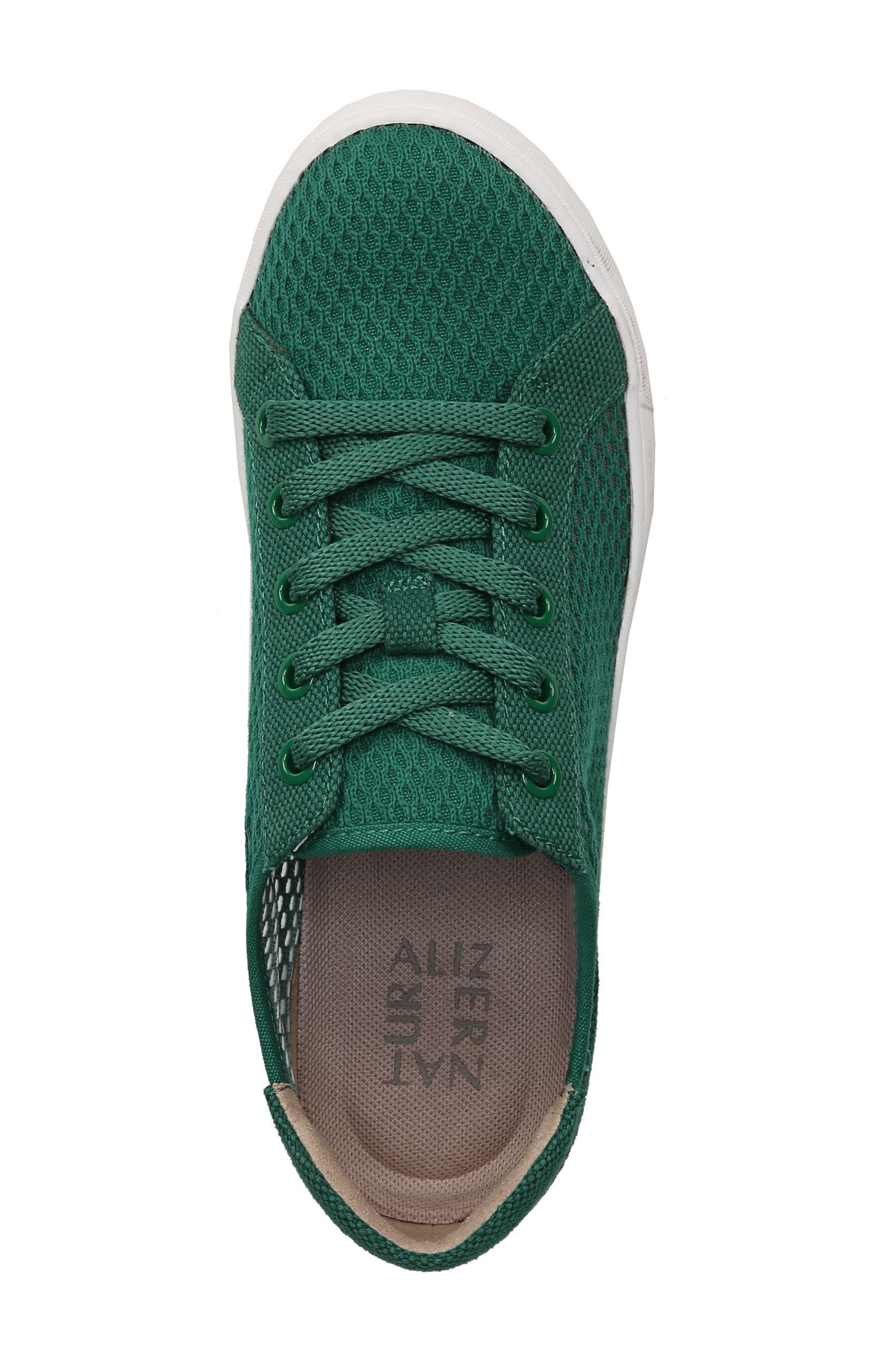Morrison III Perforated Sneaker,                             Alternate thumbnail 5, color,                             Green Leather