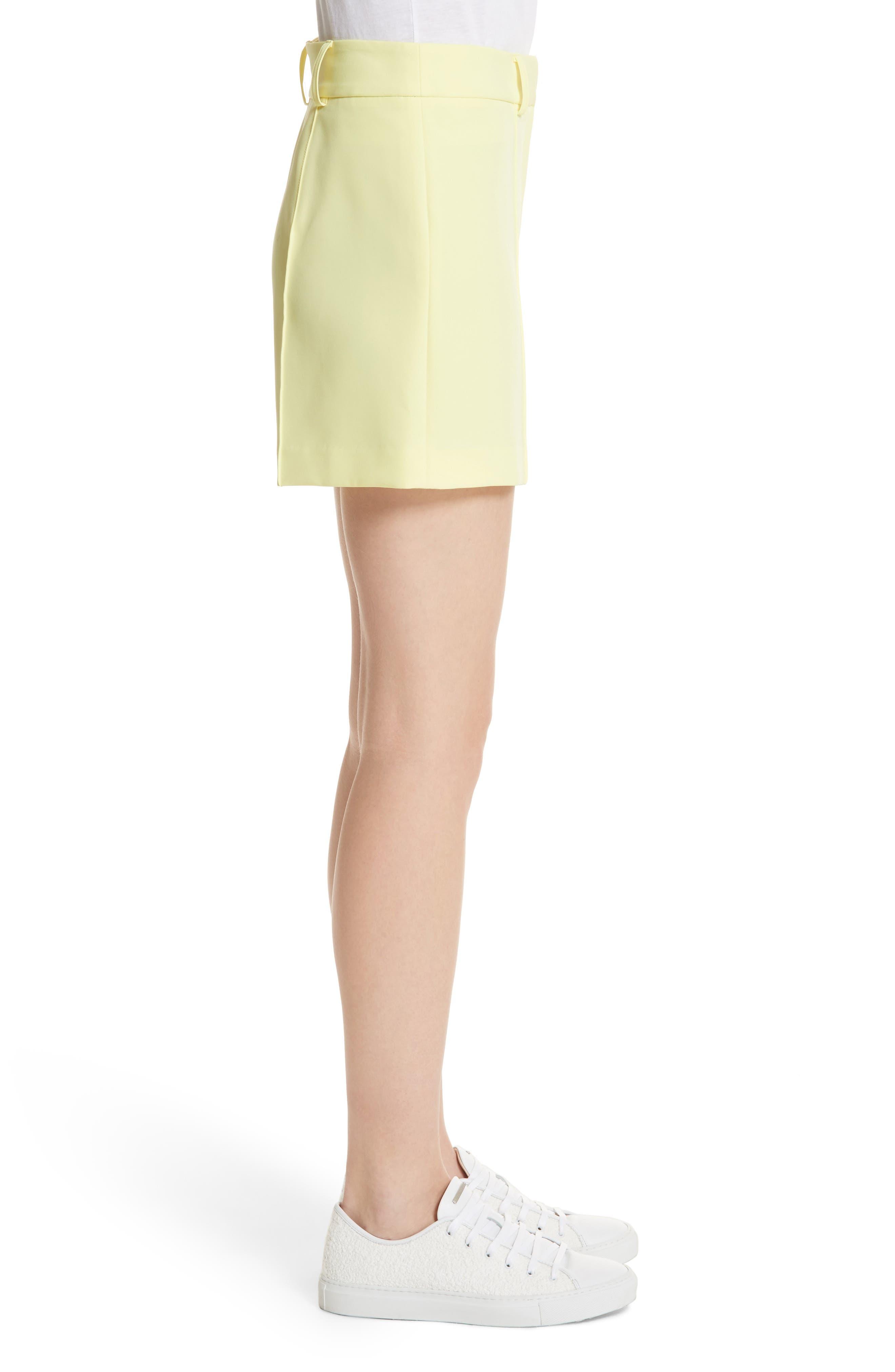Hayden Trouser Shorts,                             Alternate thumbnail 3, color,                             Lemon Yellow