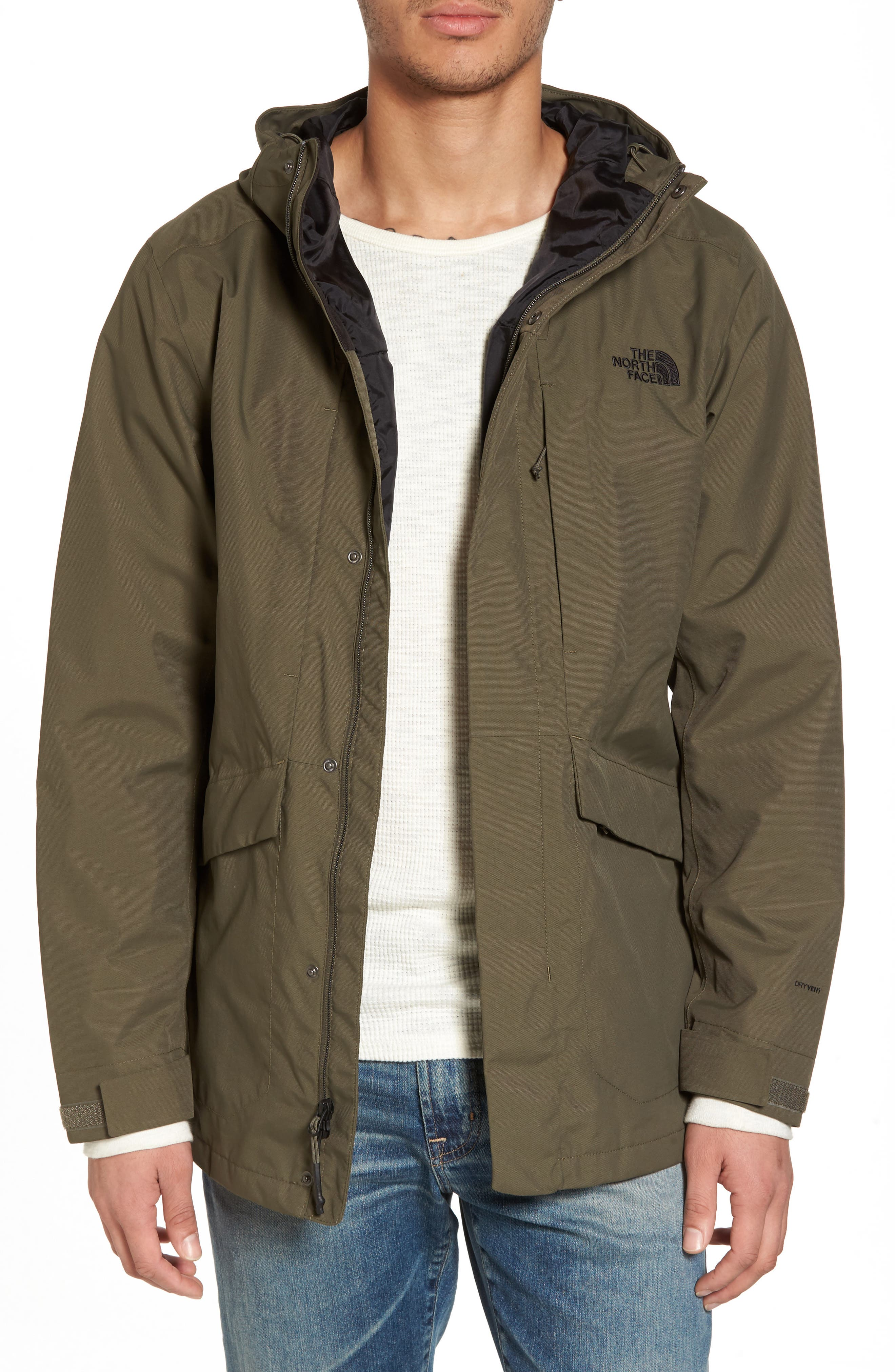 El Misti Trench II Hooded Jacket,                             Main thumbnail 1, color,                             New Taupe Green