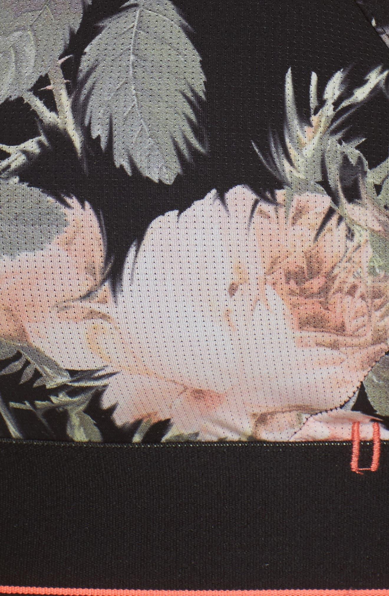 Beau Floral Tomboy Bralette,                             Alternate thumbnail 11, color,                             Black