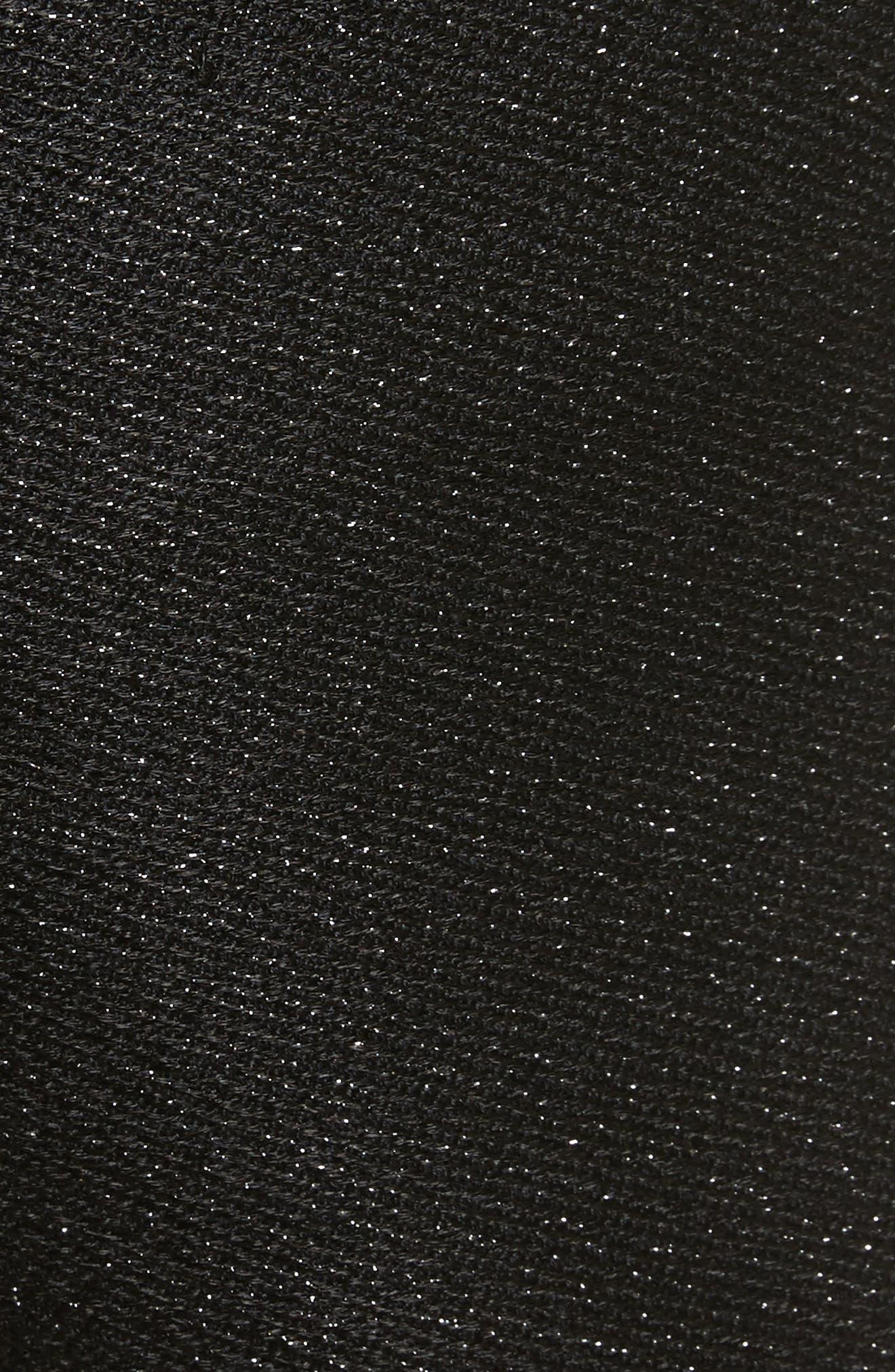 Chopan Belted Paper Bag Shorts,                             Alternate thumbnail 5, color,                             Black