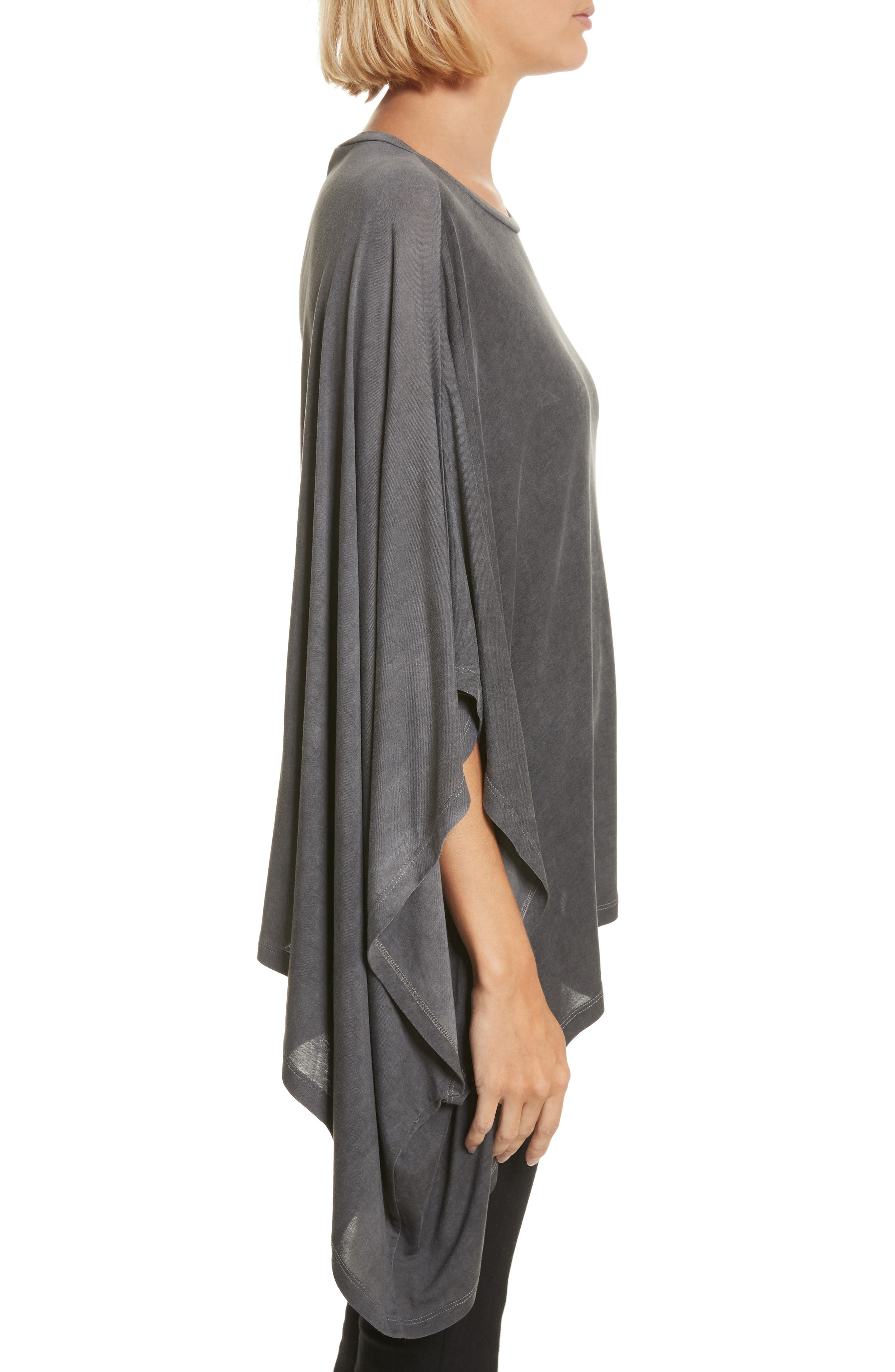 Eloaz Asymmetrical Draped Top,                             Alternate thumbnail 3, color,                             Charcoal