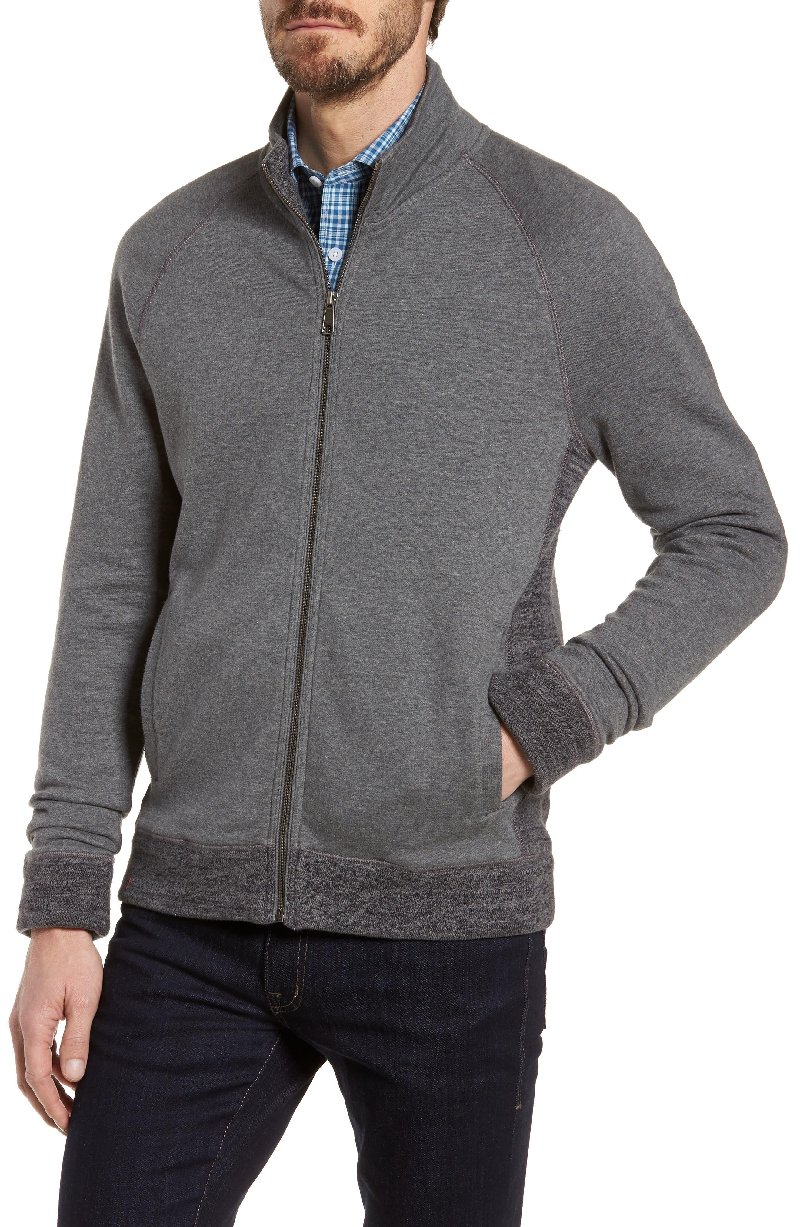 Full Zip Fleece Jacket,                             Alternate thumbnail 4, color,                             Charcoal Heather