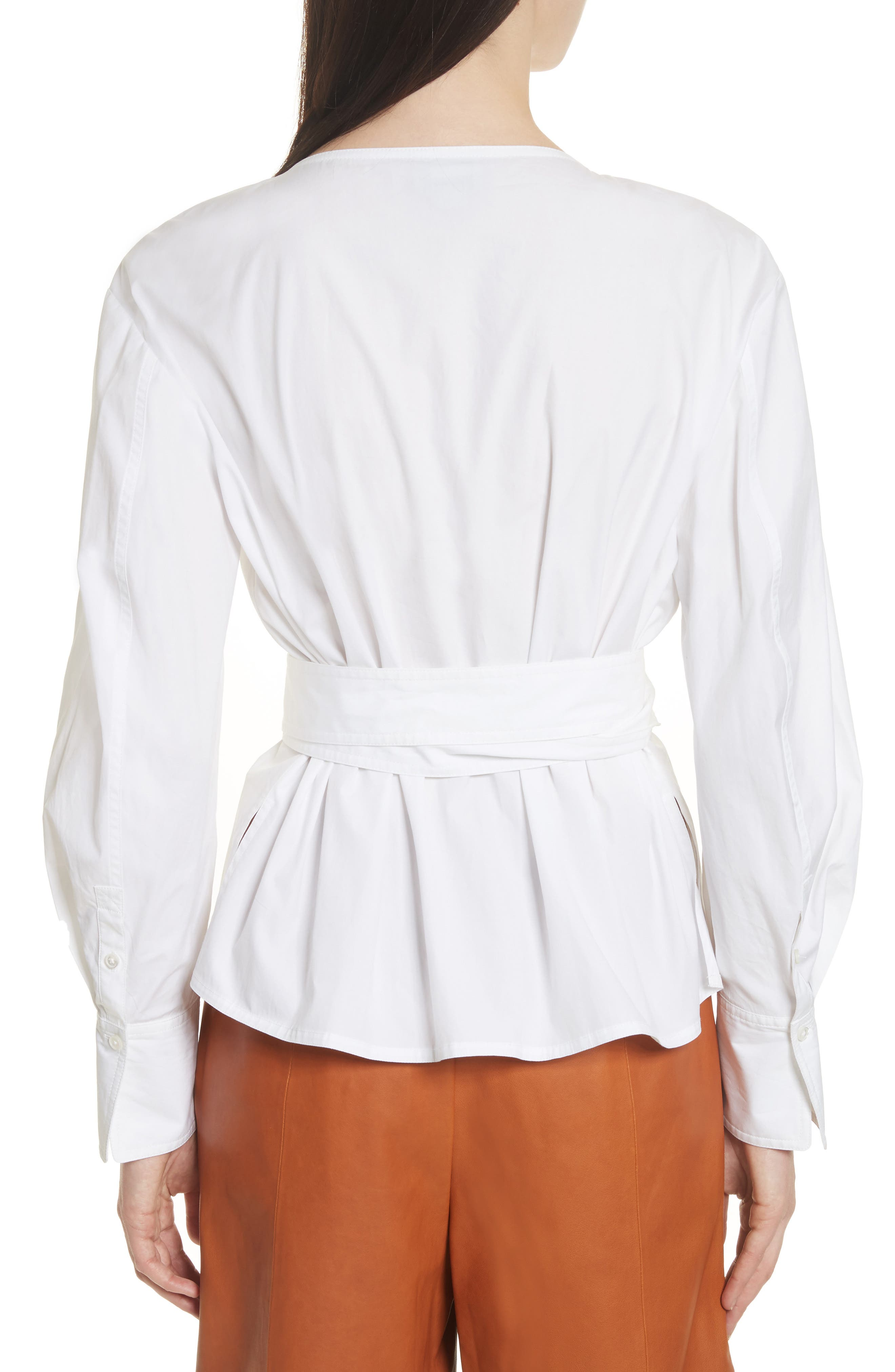 Alternate Image 2  - GREY Jason Wu Puff Sleeve Poplin Wrap Blouse