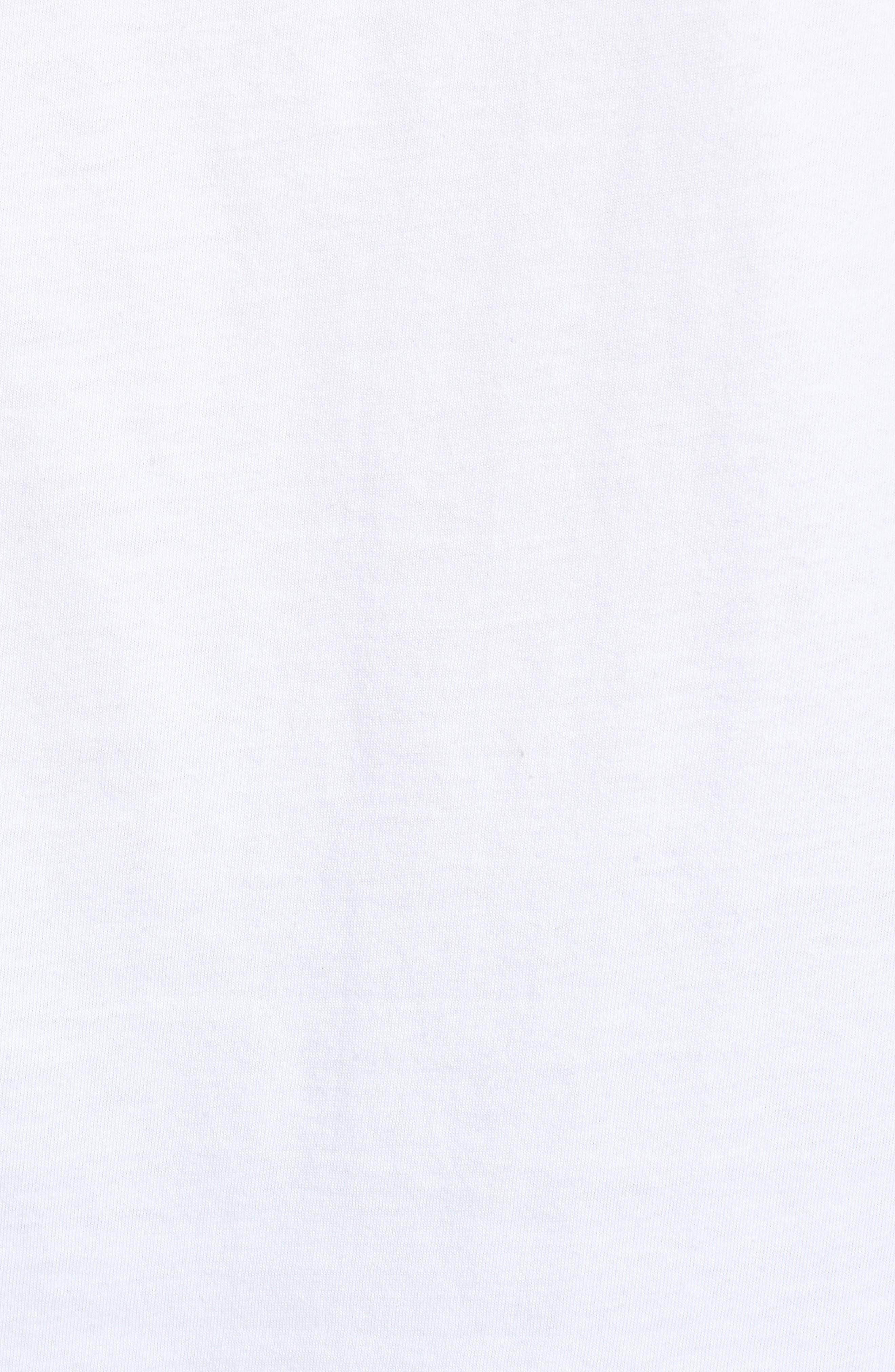 Flutter Sleeve Tee,                             Alternate thumbnail 5, color,                             White