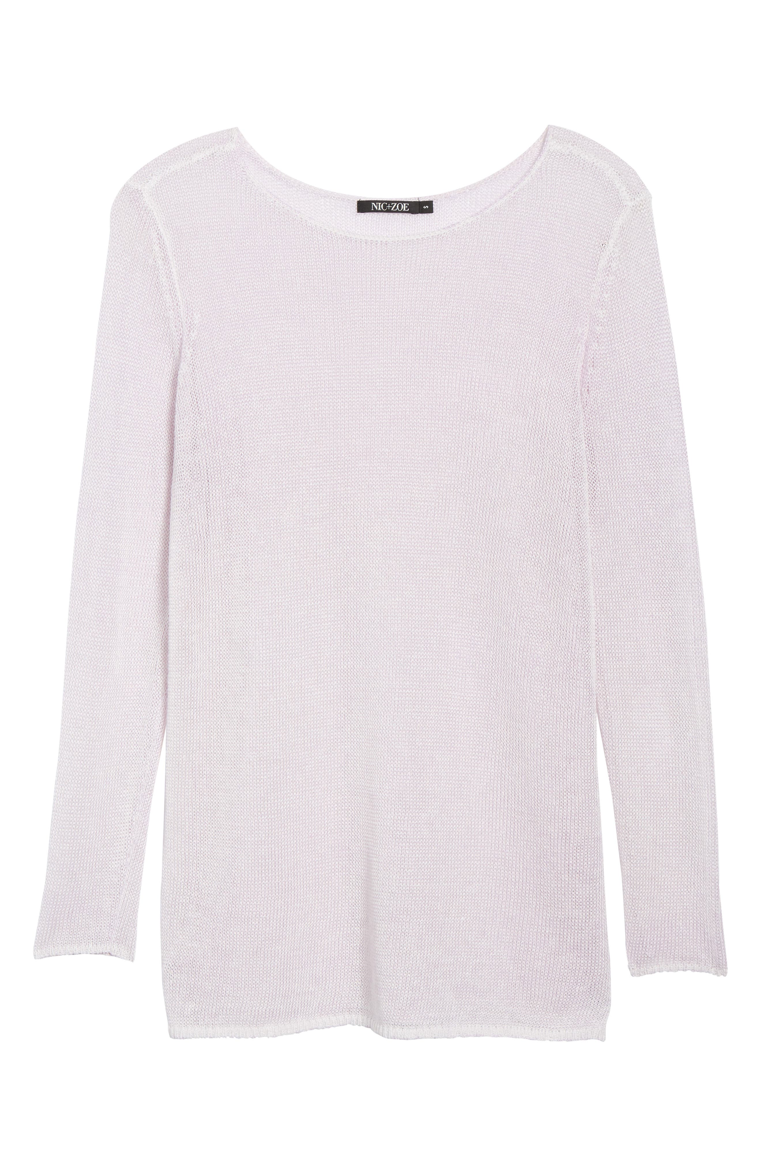 NIC + ZOE Poolside Linen Blend Sweater,                             Alternate thumbnail 6, color,                             Tea Dust